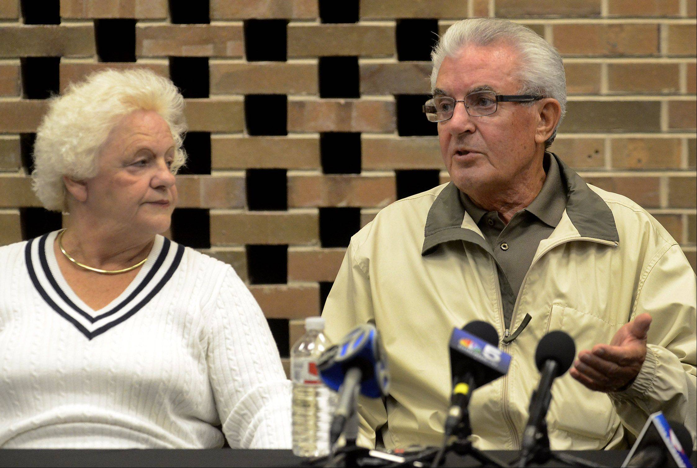 Tony and Jadwiga Dzierzak, parents of a Schaumburg woman who went missing Oct. 11, appealed for her to come Wednesday. Authorities believe Beata Candre left home voluntarily.