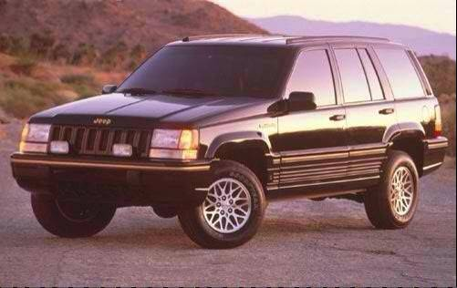 Beata Candre drives a black 1994 Jeep Grand Cherokee like this, though the photo is not of her own vehicle.