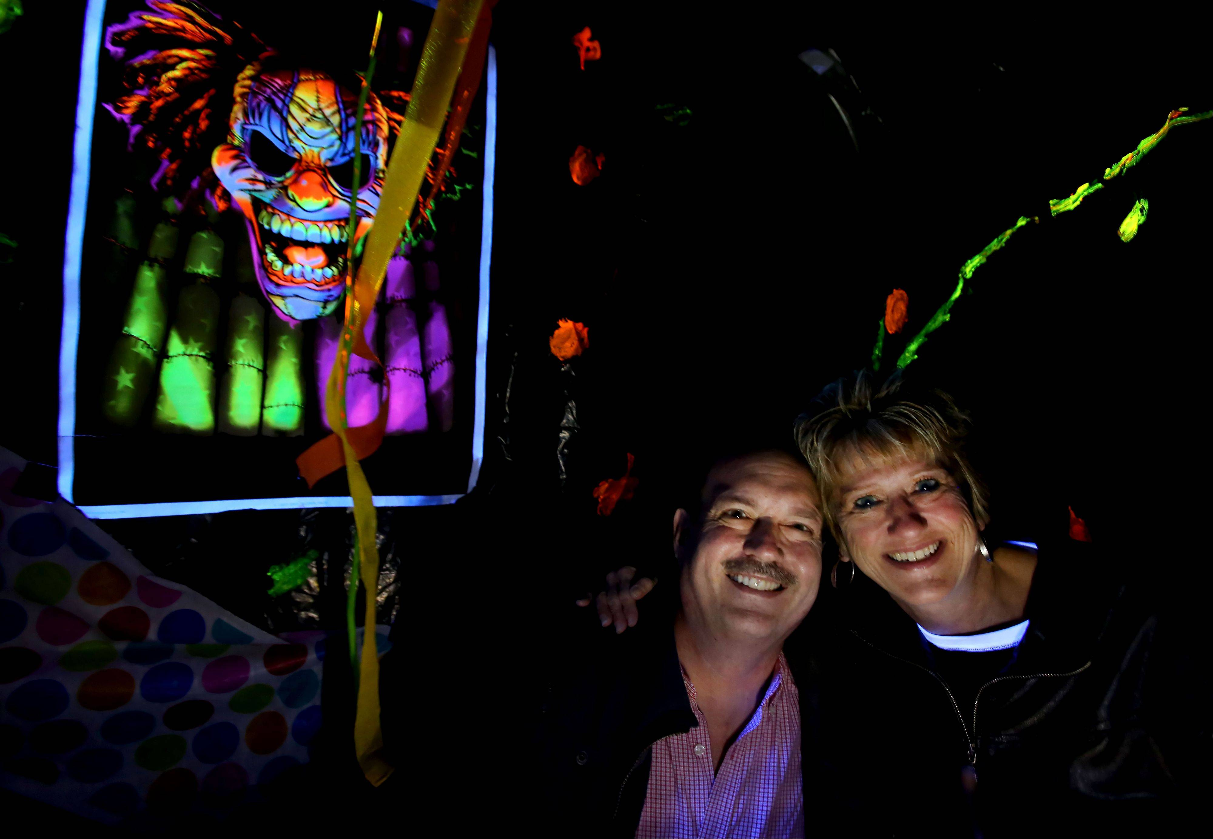 Larry and Liz Hunka have set up a haunted garage in their Wheaton home for the past 13 years. This is the last year of the Halloween tradition since their son will be going off to college next year.
