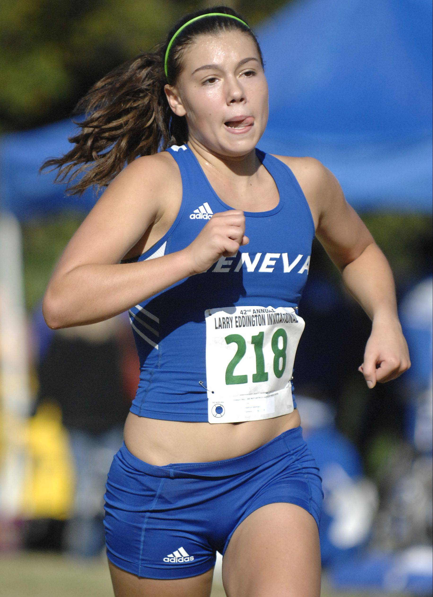 Kathryn Adelman is part of a talented and balanced group of runners at Geneva, who has had a few different runners in their No. 1 spot this fall.