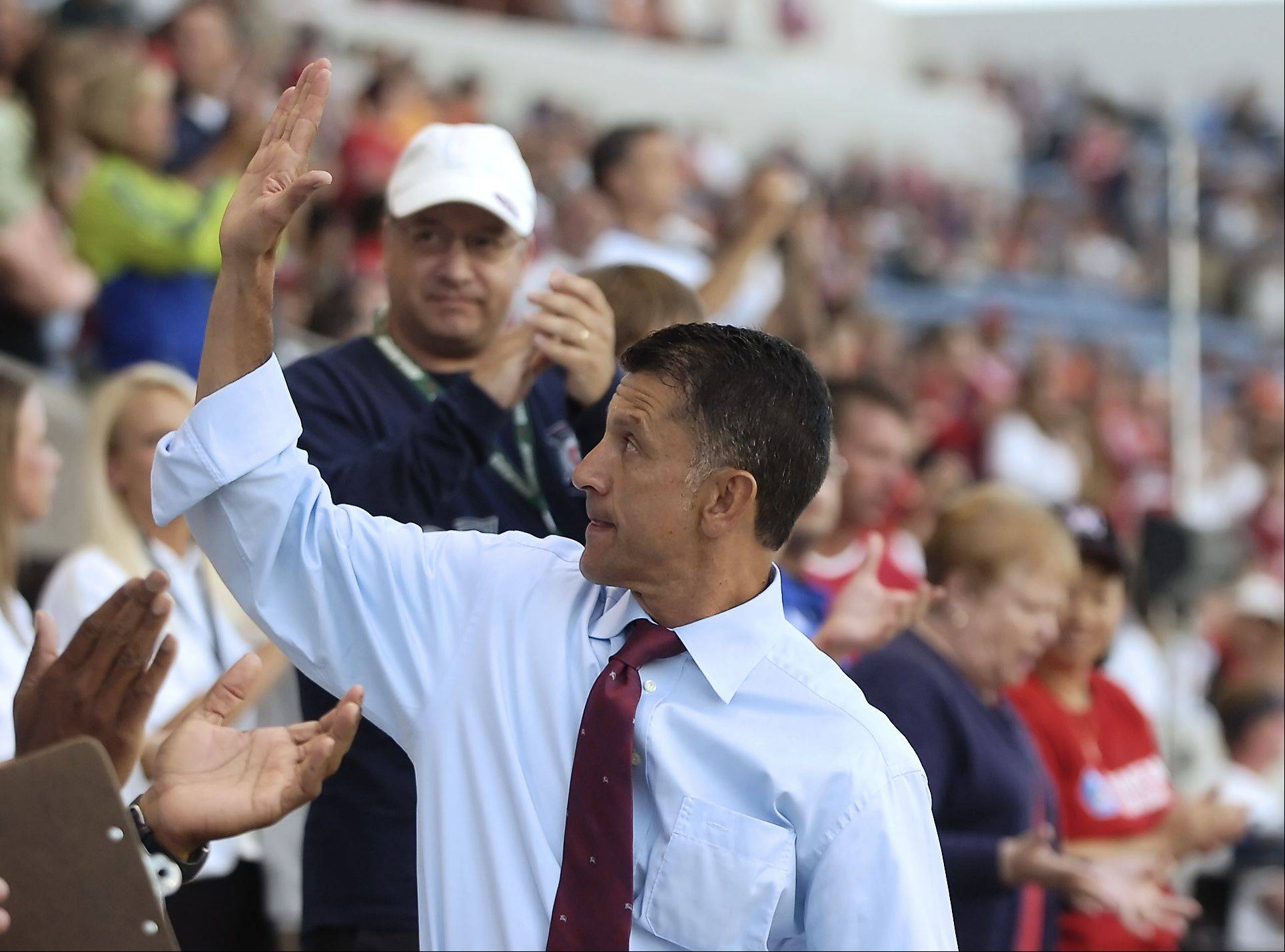 New head coach Juan Carlos Osorio is greeted by the fans as the Chicago Fire host the Houston Dynamo, on Thursday, July 12, 2007. Osorio coached the team for the 2007 season.