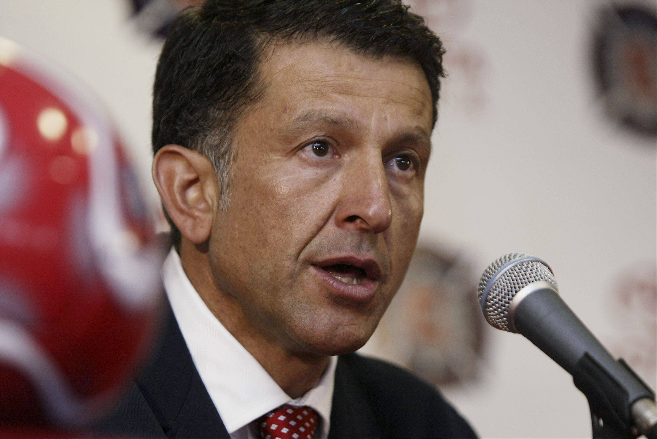 Juan Carlos Osorio answers a question during a press conference announcing him as the head coach of the Chicago Fire. Osorio coached the team for the 2007 season.