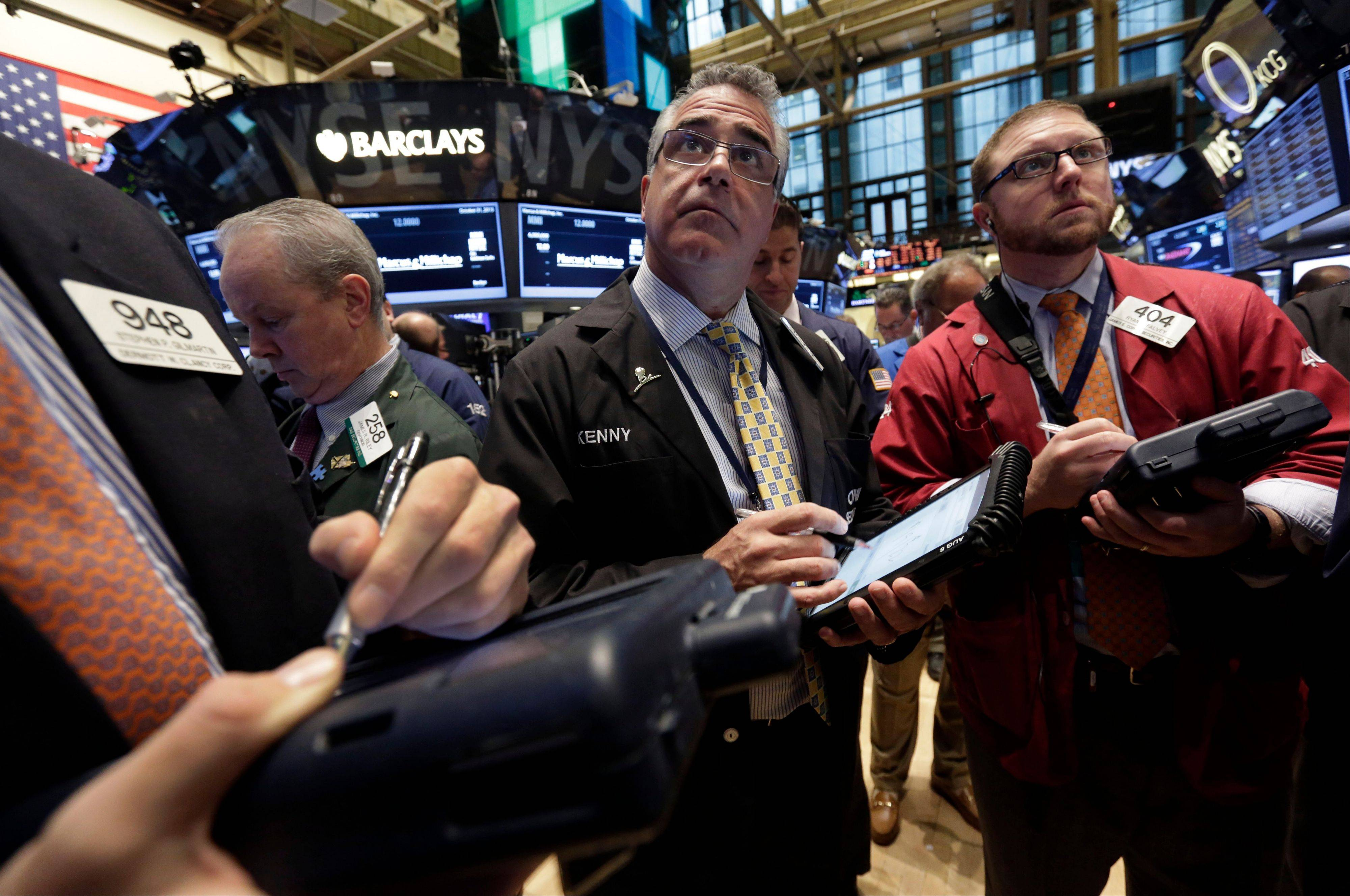 U.S. stocks fell, giving the Standard & Poor�s 500 Index its first two-day slide in three weeks, on speculation the Federal Reserve will scale back stimulus in coming months as investors assessed earnings.