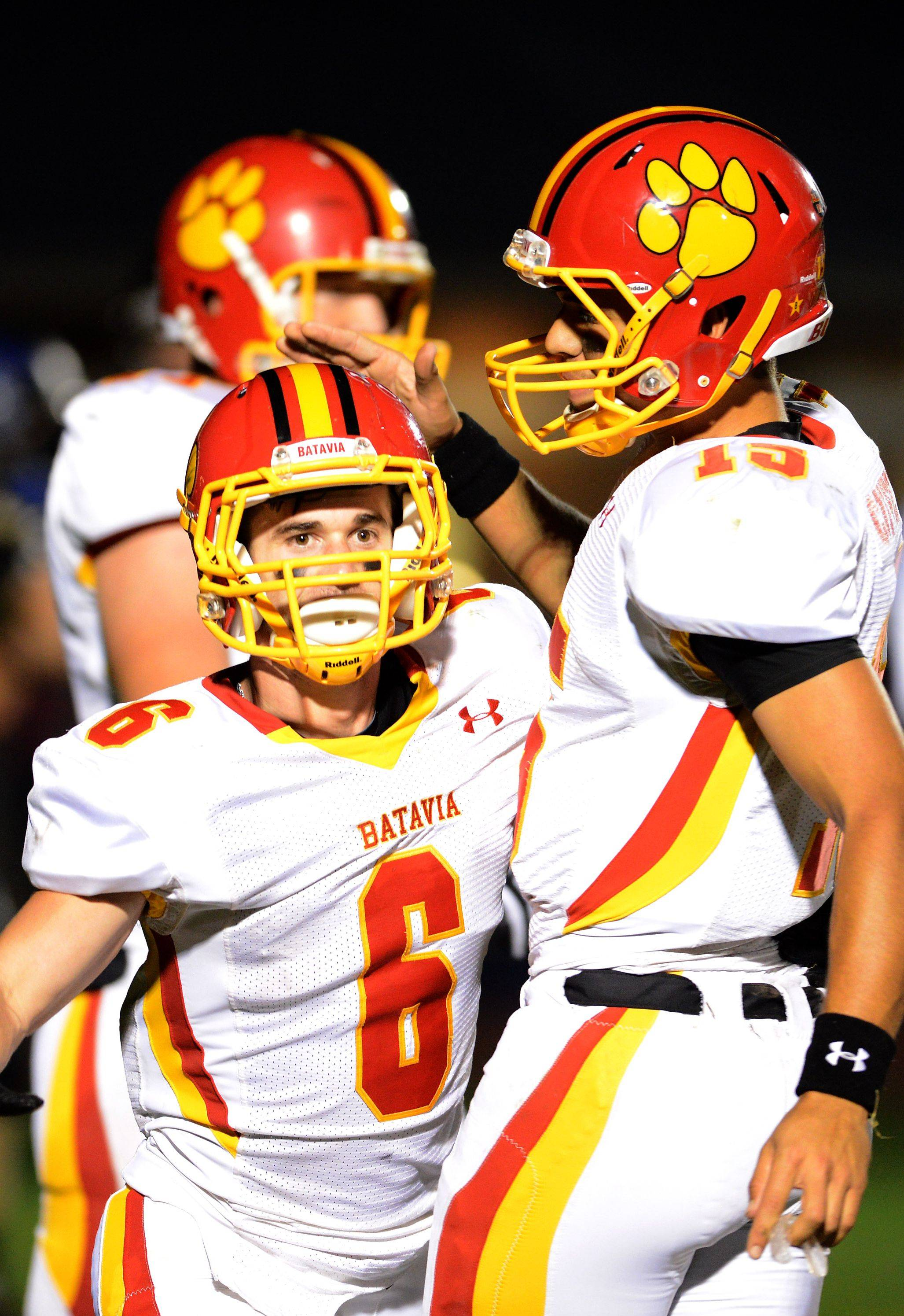 Rourke Mullins and Micah Coffey connected for a touchdown in Batavia�s win last week over Elgin and will look to put many more points on the board in its playoff opener Friday against DeKalb.