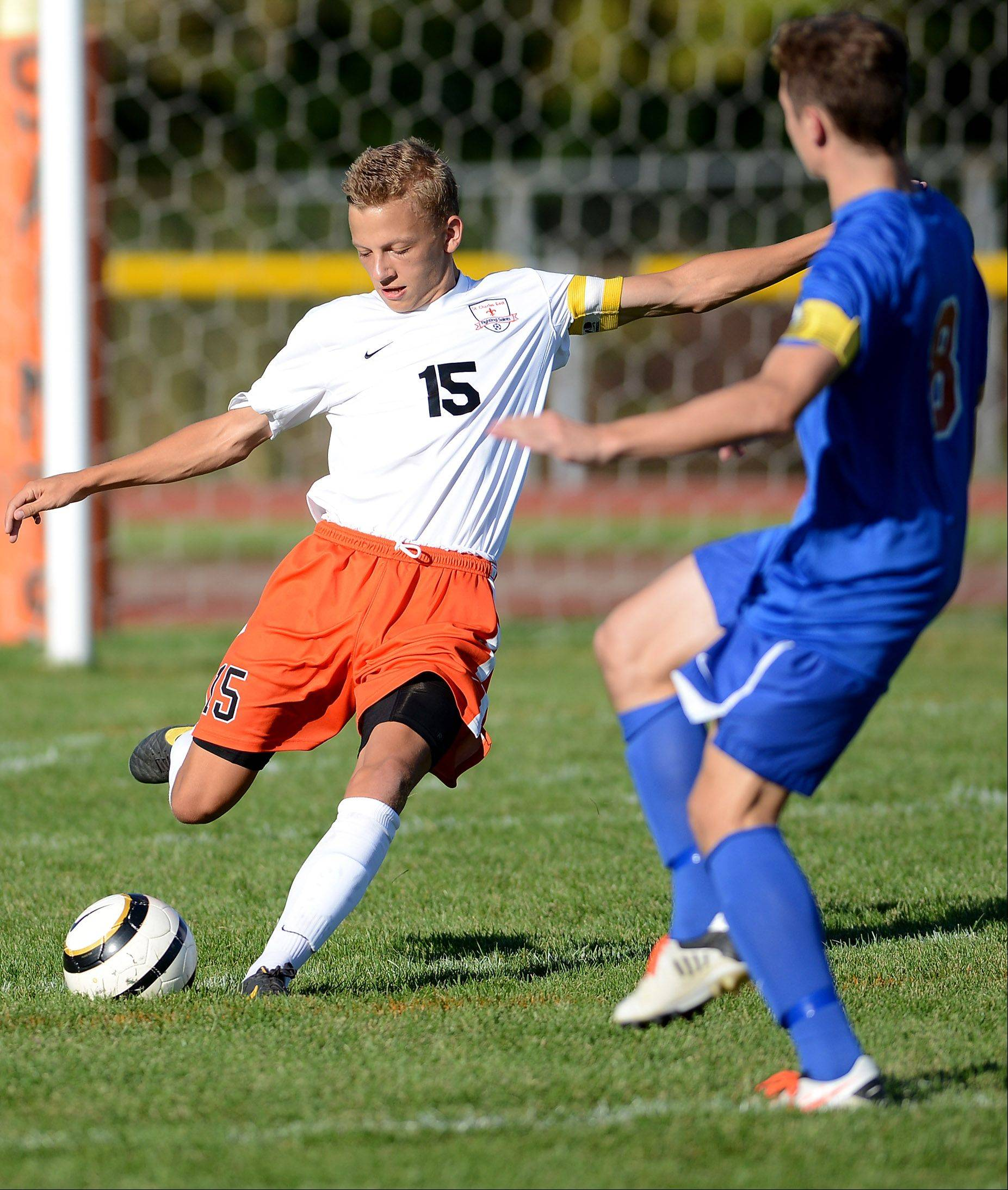 Rick West/rwest@dailyherald.com St. Charles East's Kevin Heinrich is the Daily Herald Tri-Cities all-area captain.
