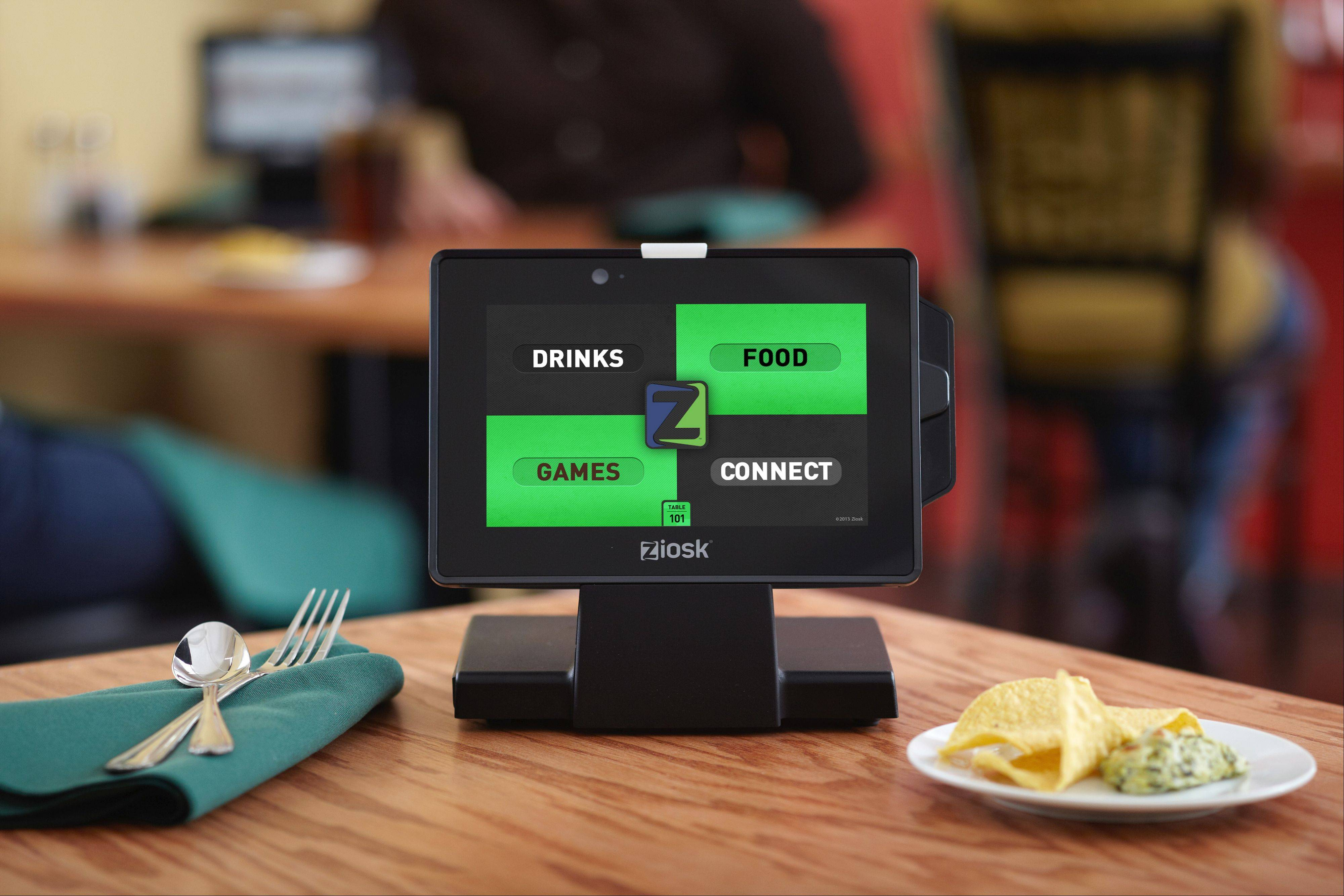 Dallas, Texas-based Ziosk has updated its tabletop tablet where restaurant customers can order food, pay their bill and even get entertainment while waiting for their meal. Chili's restaurants around the suburbs now offer the upgraded tablet with a touch screen and more features.