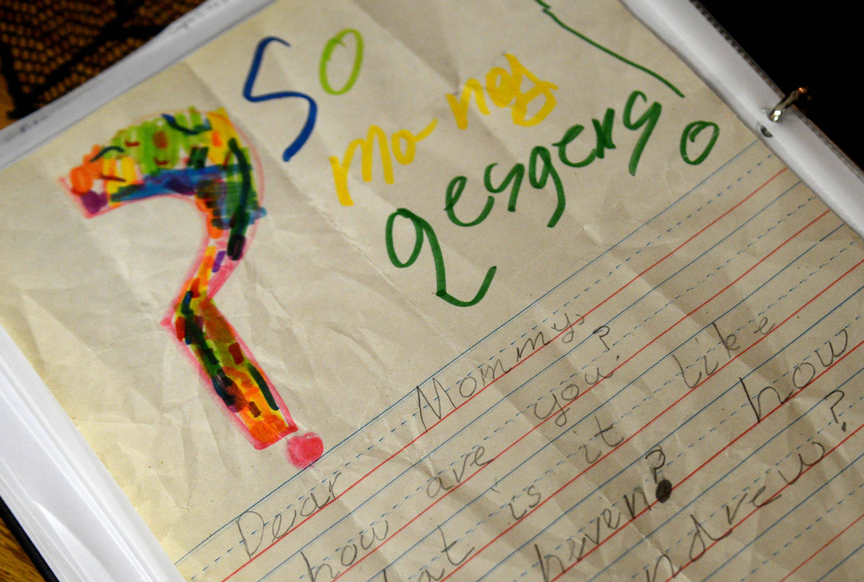"Michael McMeins keeps a letter tucked in his music book that Olivia wrote a couple of years ago. It starts out, ""So many questions!"" and is addressed to her mother."