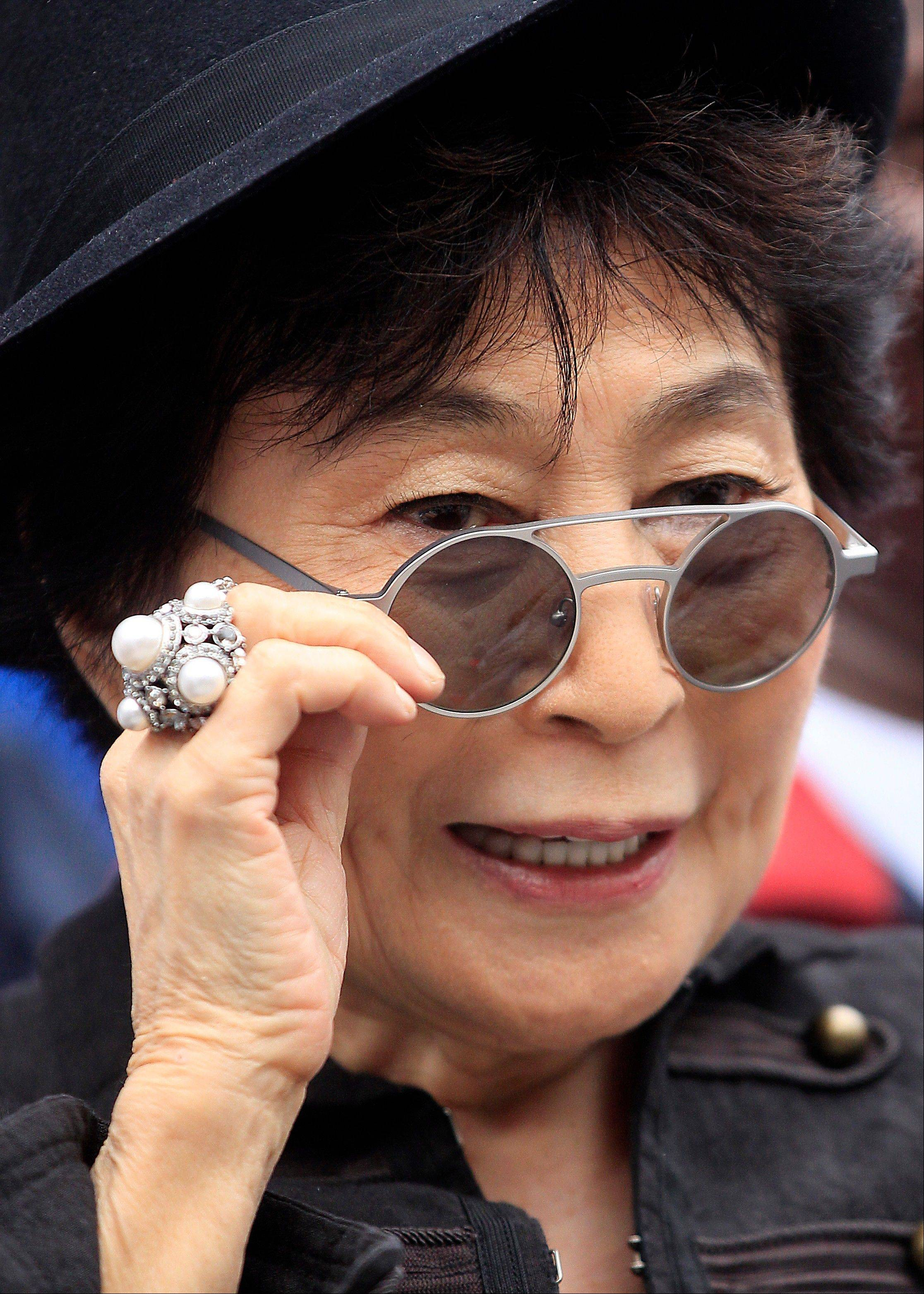 Yoko Ono says she's thankful that Paul McCartney appears to have gotten over his grudge against her.