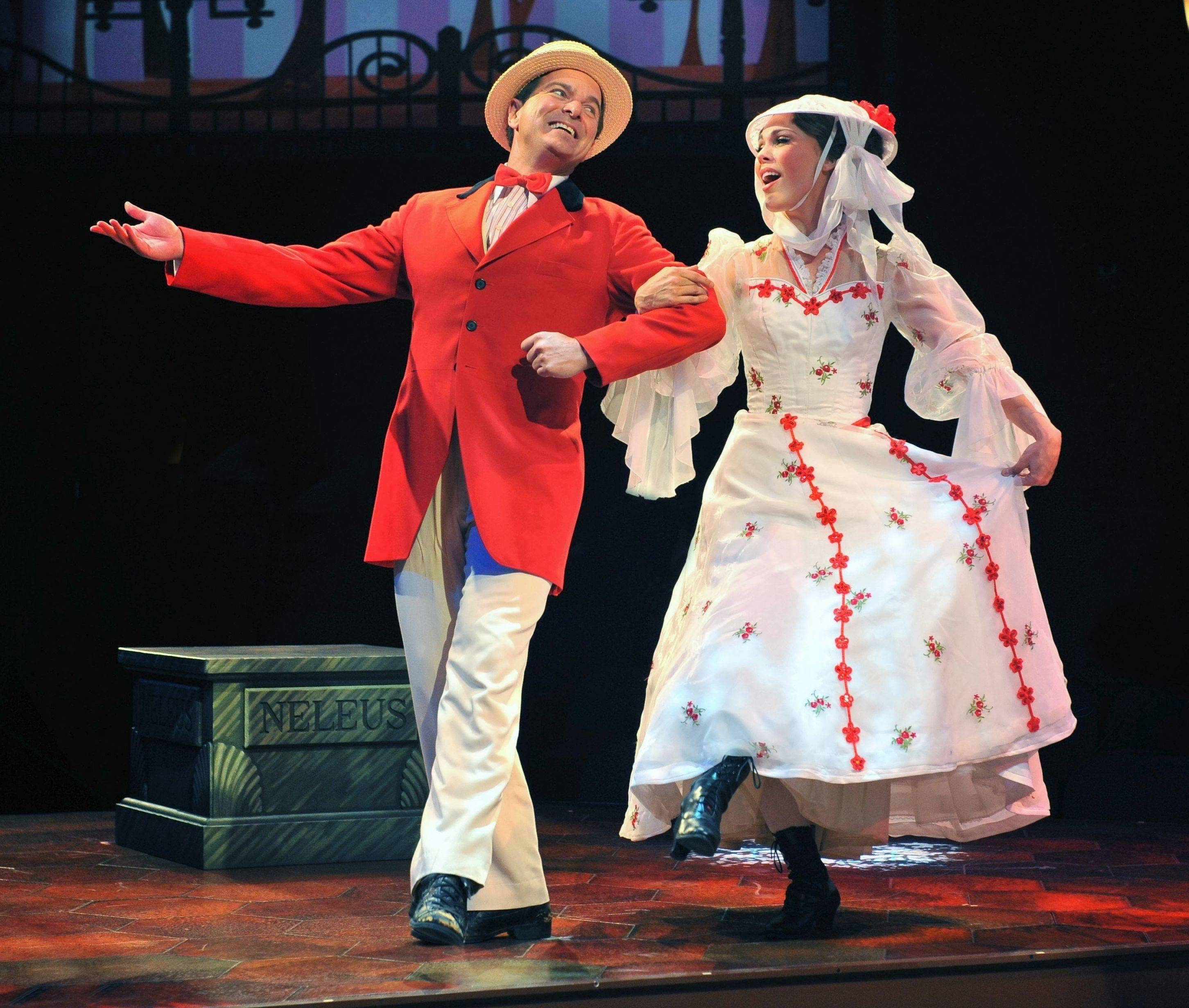 "Mary (Summer Naomi Smart) and Bert (Bernie Yvon) enjoy a jolly holiday in director Gary Griffin's production of ""Mary Poppins"" running through Jan. 5 at Marriott Theatre in Lincolnshire."