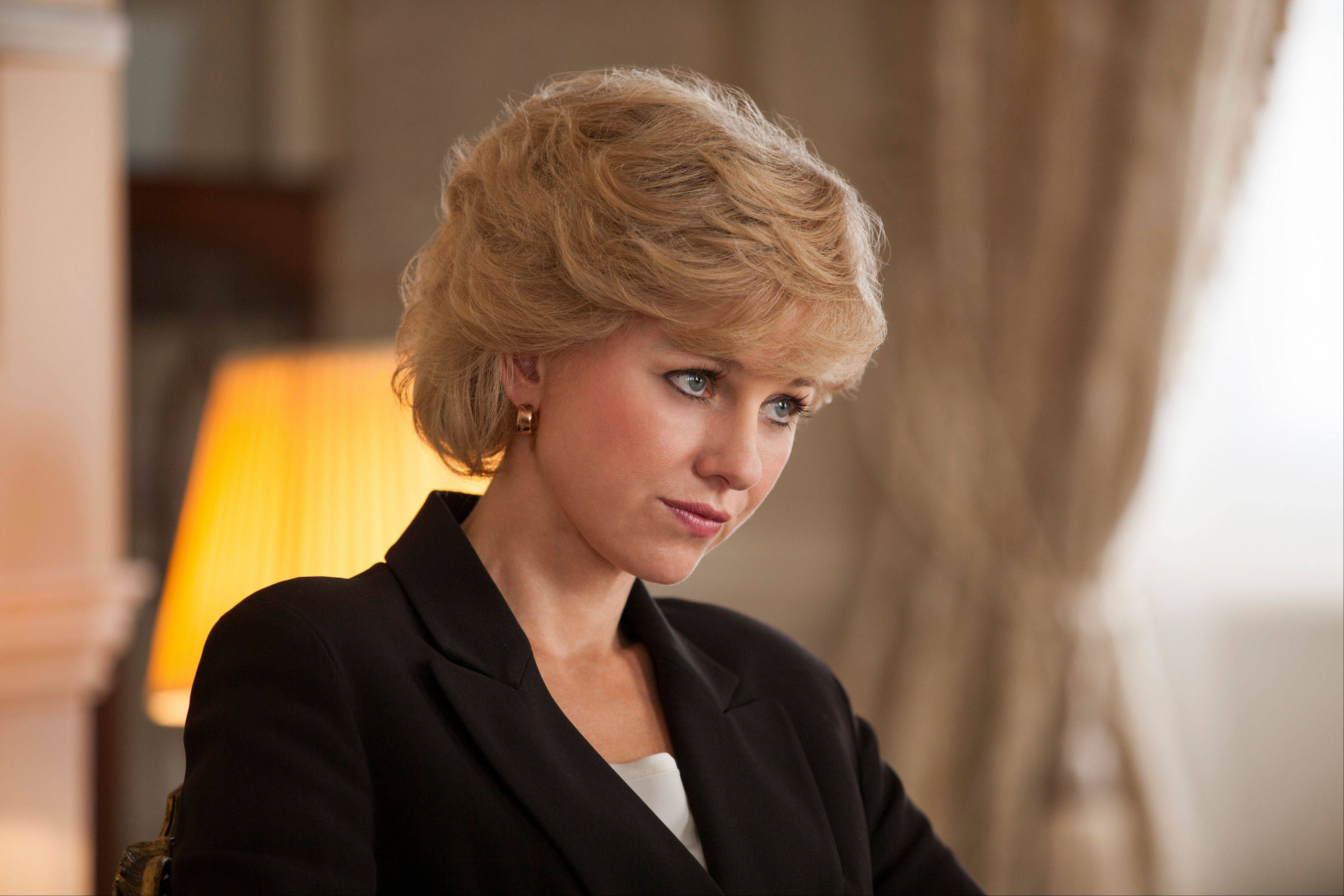"Naomi Watts as Diana, Princess of Wales, in ""Diana."""