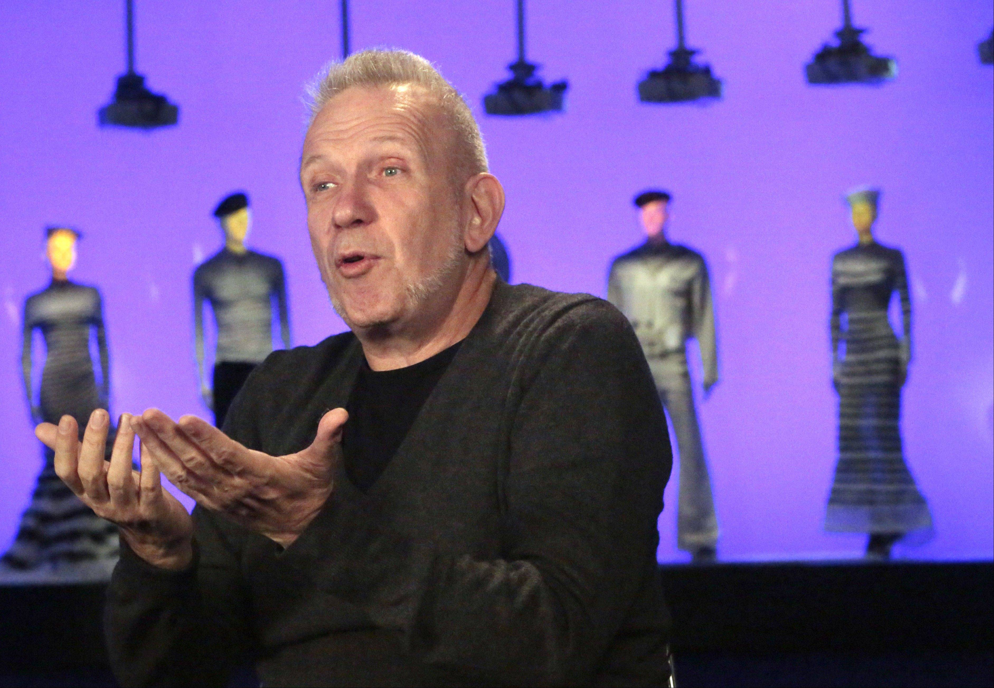"Fashion designer Jean Paul Gaultier speaks about the installation of his Brooklyn Museum exhibit, ""The Fashion World of Jean Paul Gaultier: From the Sidewalk to the Catwalk."""