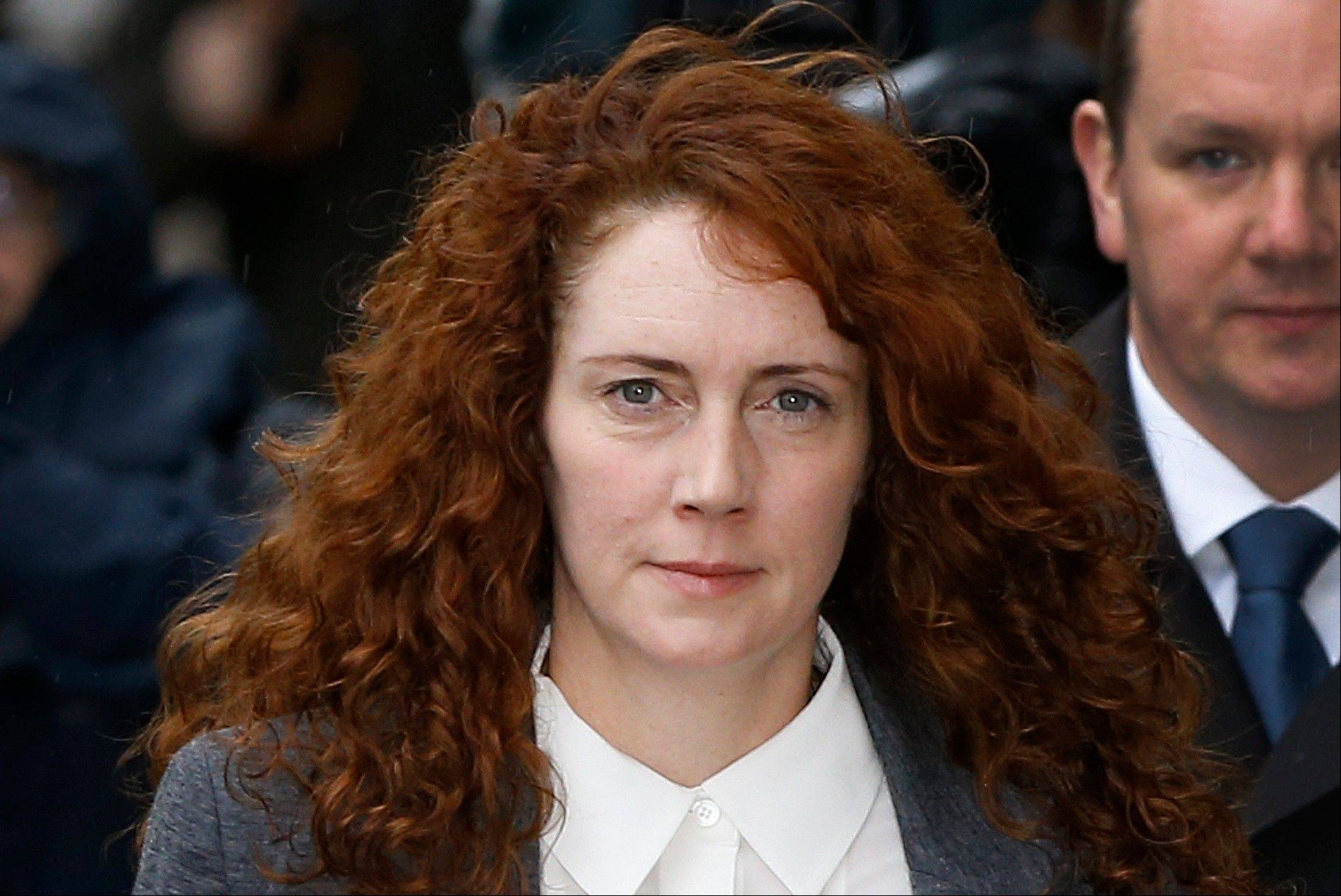 Rebekah Brooks arrives at The Old Bailey law court in London, Thursday, Oct. 31, 2013. Former News of the World national newspaper editors Rebekah Brooks and Andy Coulson are due to go on trial Monday on charges relating to the hacking of phones and bribing officials while at the now closed tabloid paper.