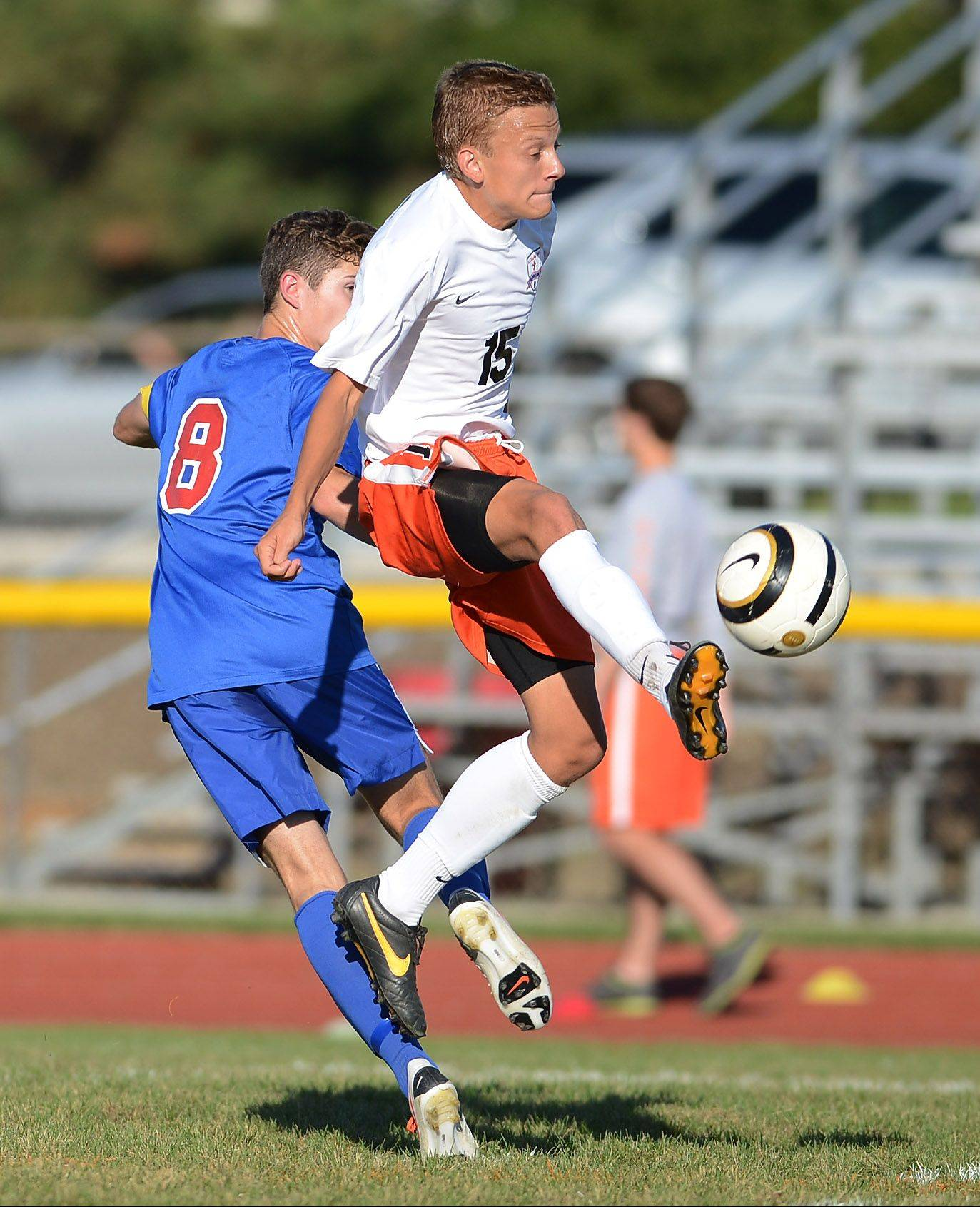 St. Charles East's Kevin Heinrich played a key role in the Saints' 16 shutouts.