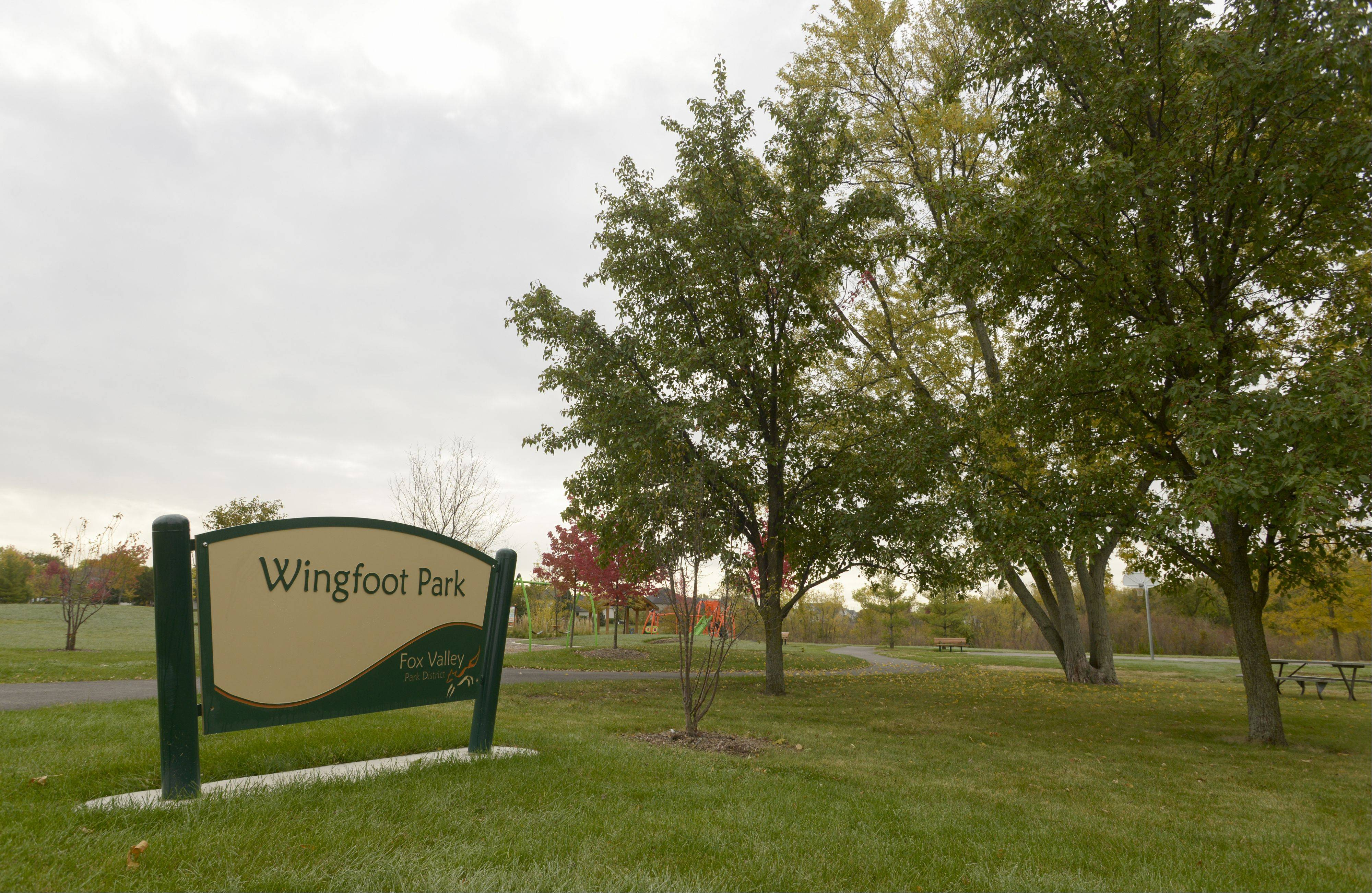 Wingfoot Park offers open space and recreation in the Banbury Ridge subdivision in North Aurora.