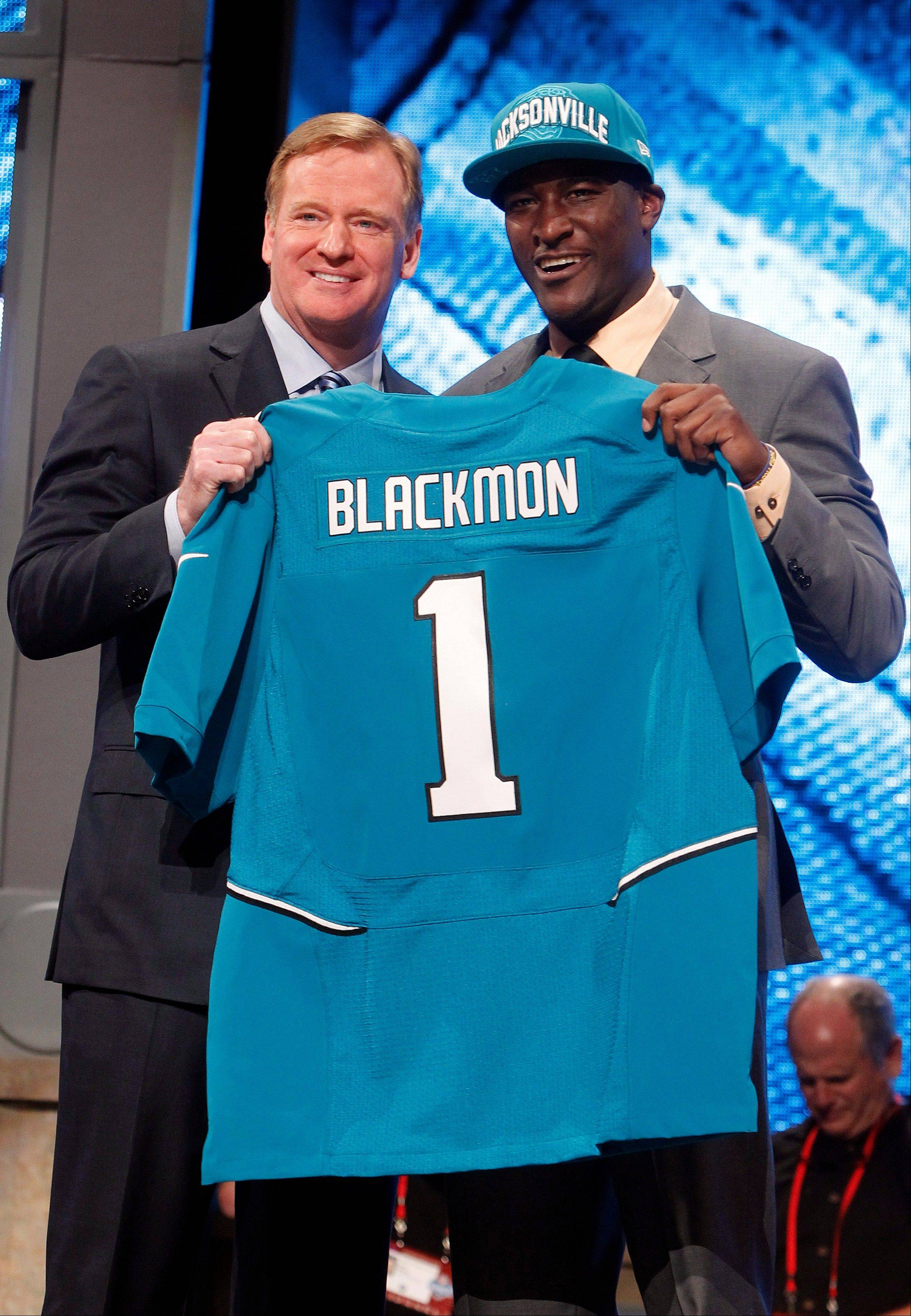 Wide receiver Justin Blackmon was the Jaguars� first-round pick in the 2012 draft.