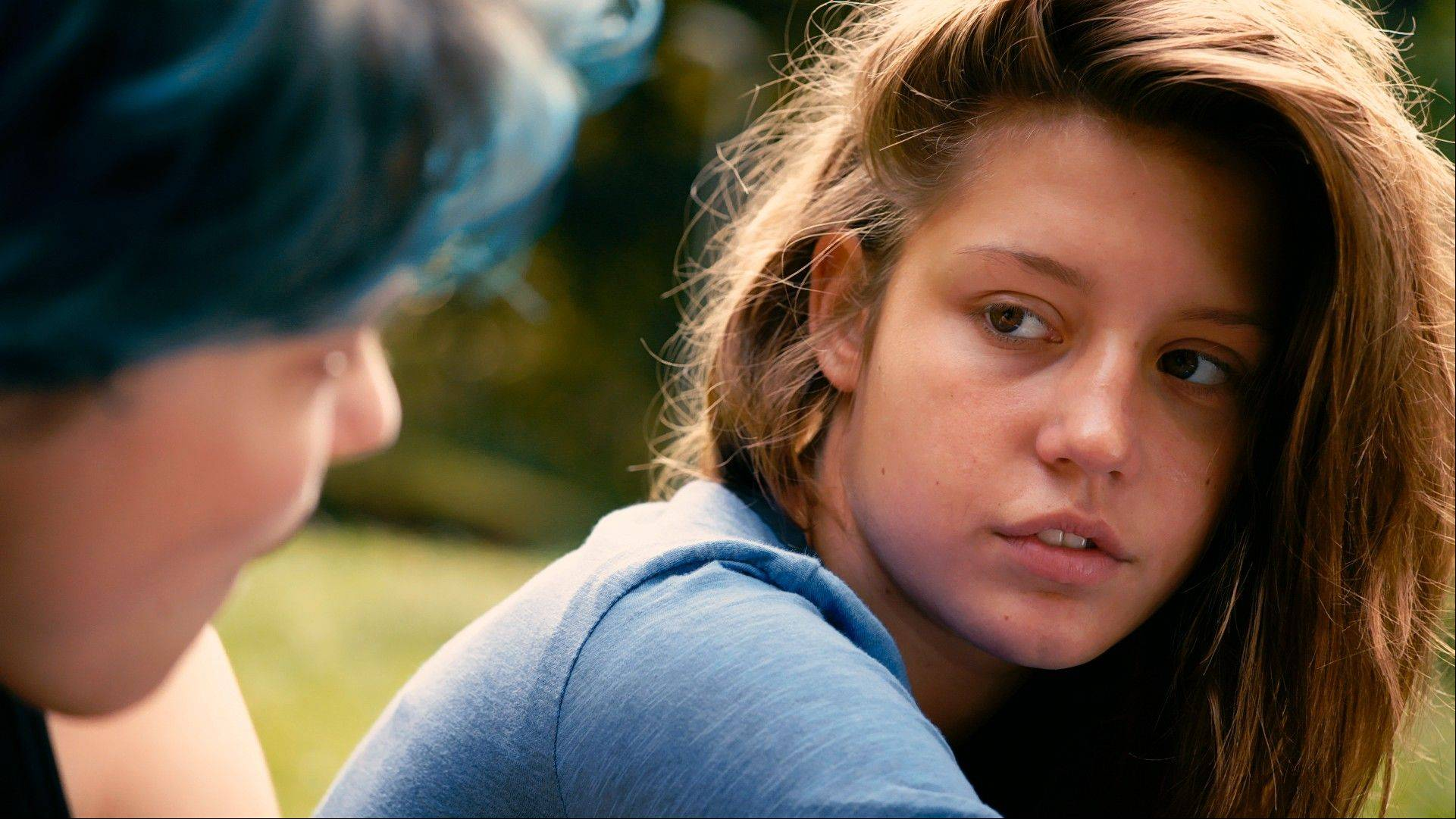 "Emma (Lea Seydoux, left,) and Adele (Adele Exarchopoulos) build a life together in the French film ""Blue Is the Warmest Color."""