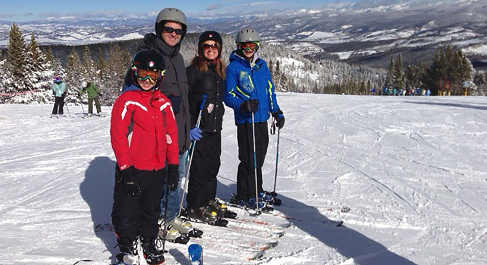 Andrea Guthmann spends a fun day on the ski slopes with her family during a recent vacation in Colorado.