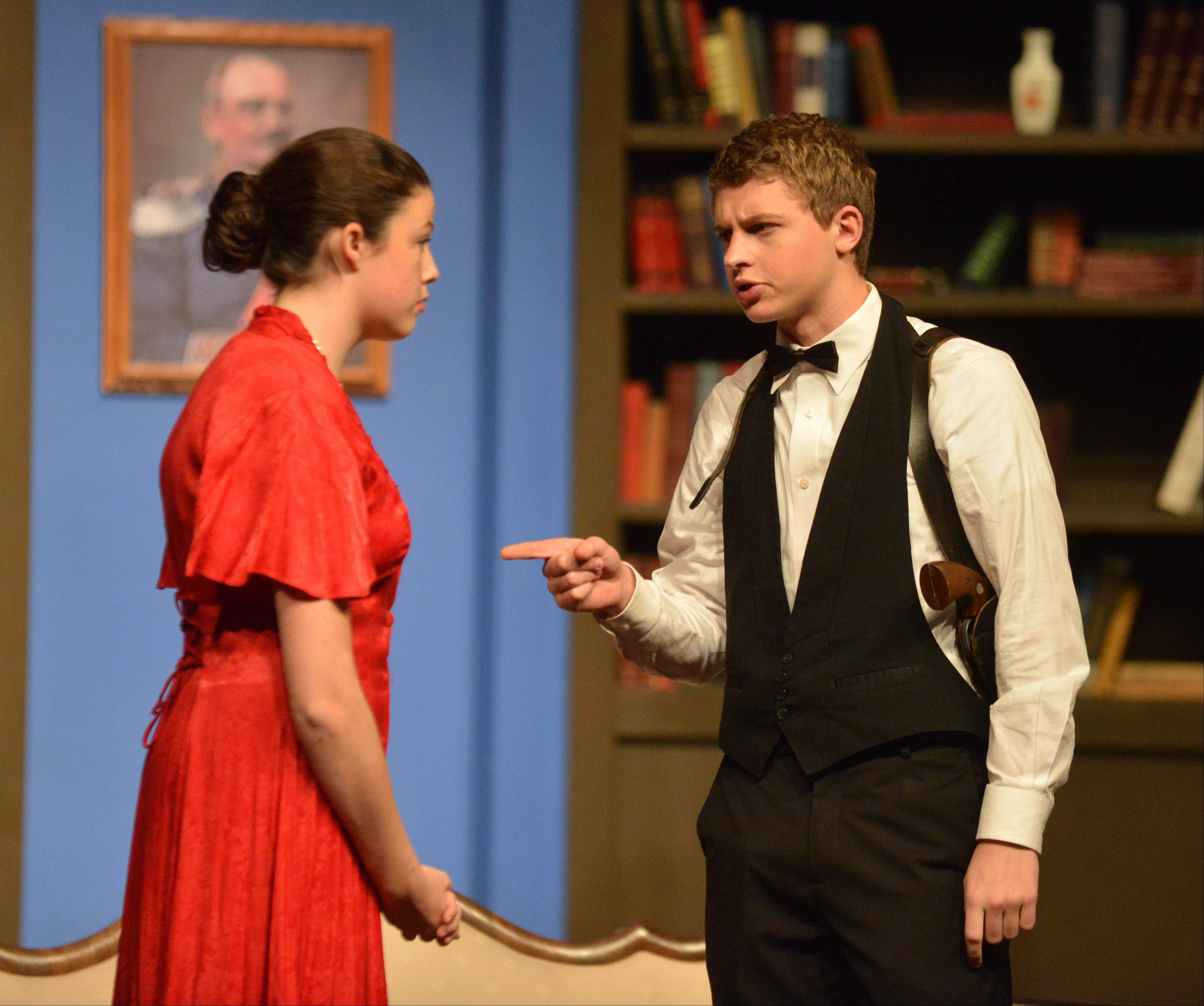 Anna Rose Redgate and Danny Peterson are featured in this weekend's theater production at Naperville Central.