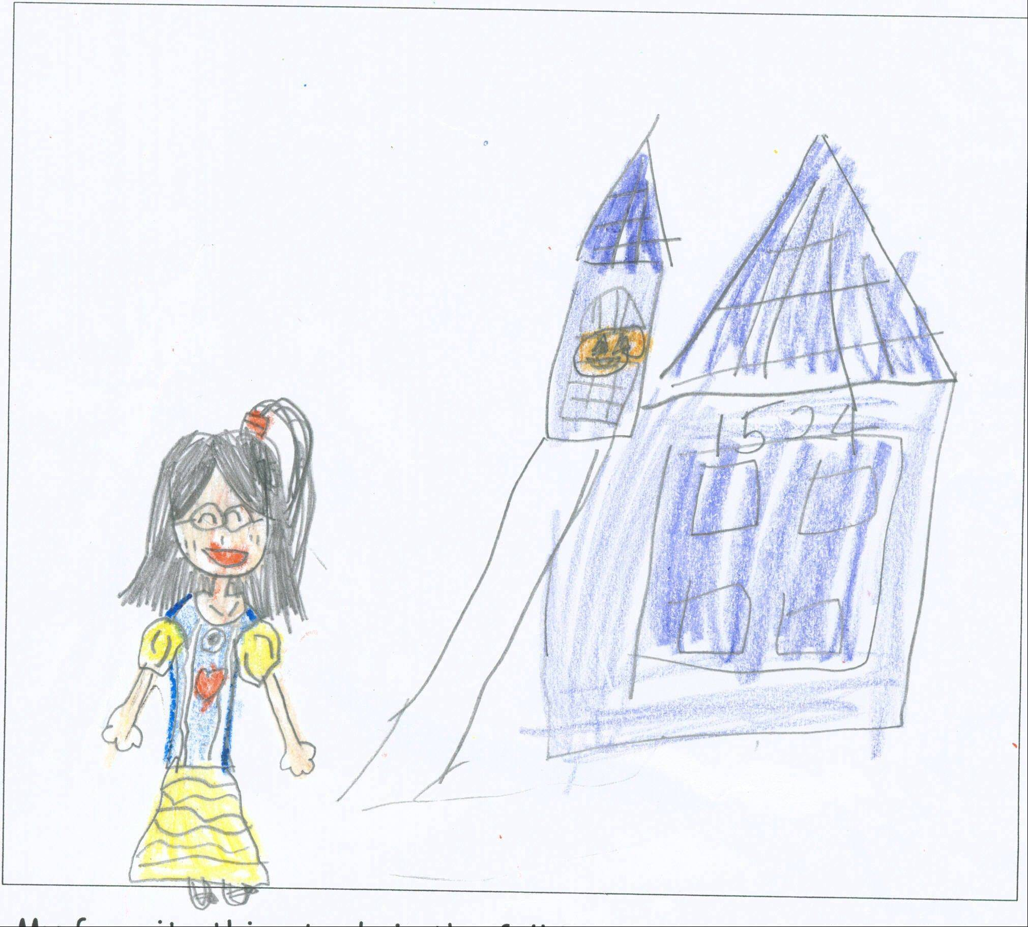 "Ai Sakano, 7, attends Frank C. Whiteley School in Hoffman Estates. ""My favorite thing to do in the fall is Halloween! I like to (add) decoration to my pumpkin."""