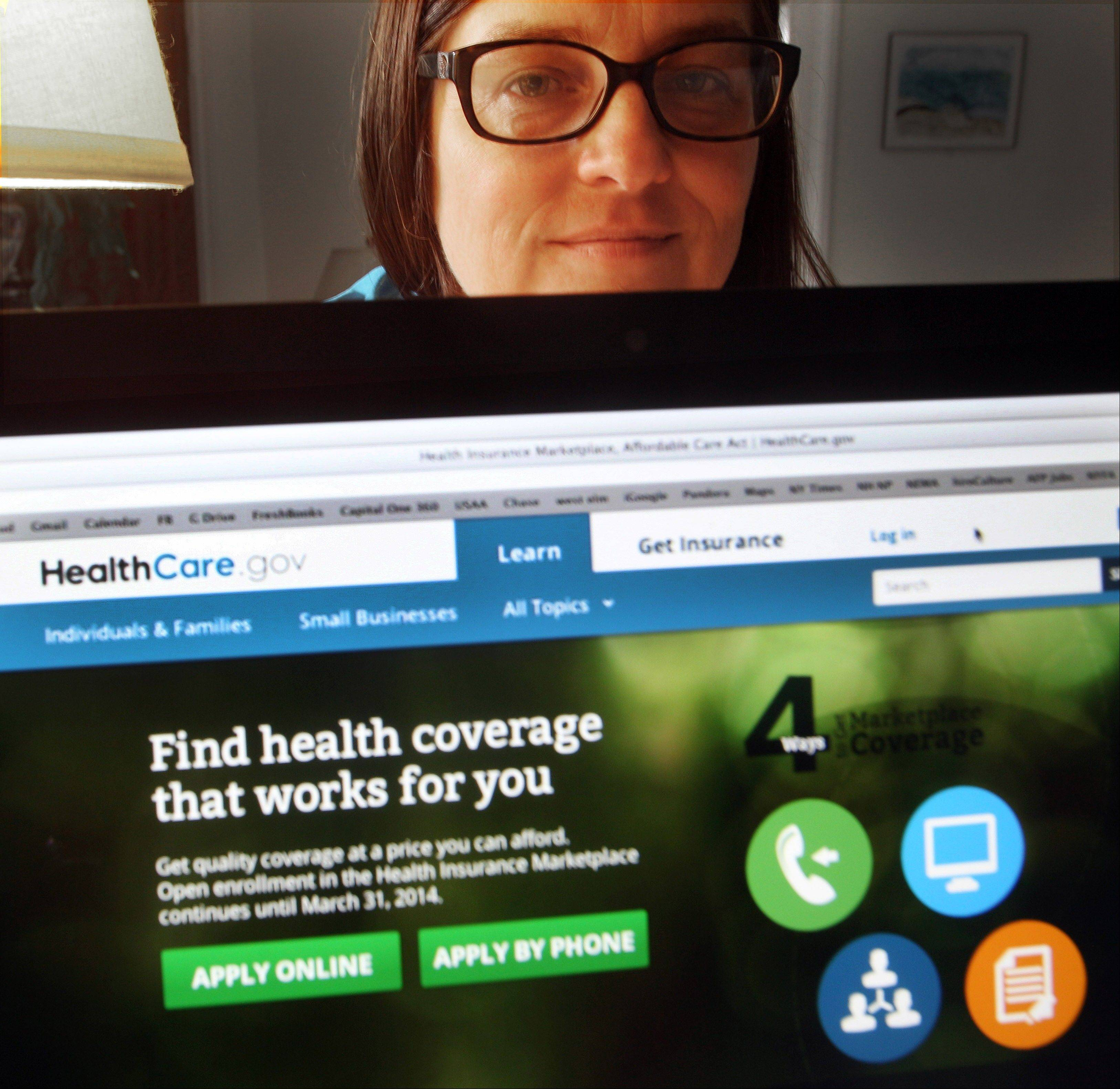 Not long after Deborah Lielasus enrolled, the Department of Health and Human Services asked her to appear both in a video describing her experience and in photographs that could replace the stock photo on the insurance enrollment site.