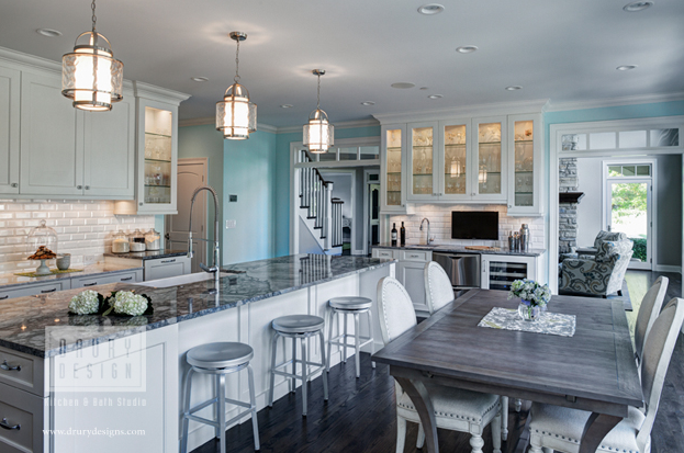 Designed by Janice Teague, CKD, CBD of Drury Design in Glen Ellyn, this fresh traditional kitchen won first place in NKBA Chicago Midwest's 2013 Design Vision contest.