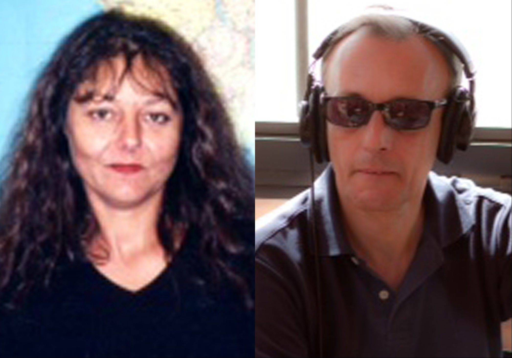 This combination of undated photos provided by Radio France International shows journalists Ghislaine Dupont, left, and Claude Verlon.