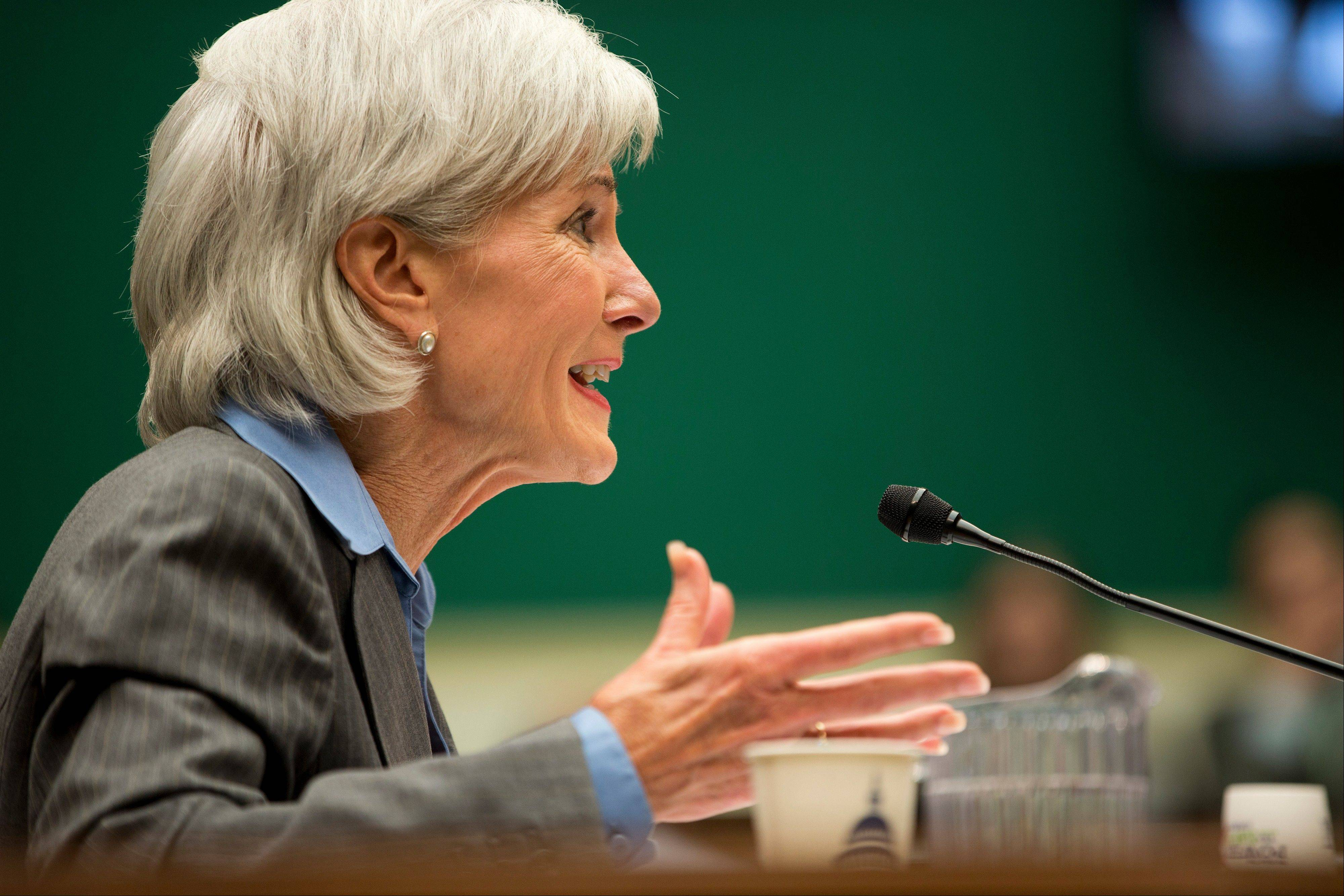 Health and Human Services Secretary Kathleen Sebelius testifies Wednesday on Capitol Hill in Washington, before the House Energy and Commerce Committee, on the difficulties plaguing the implementation of the Affordable Care Act.