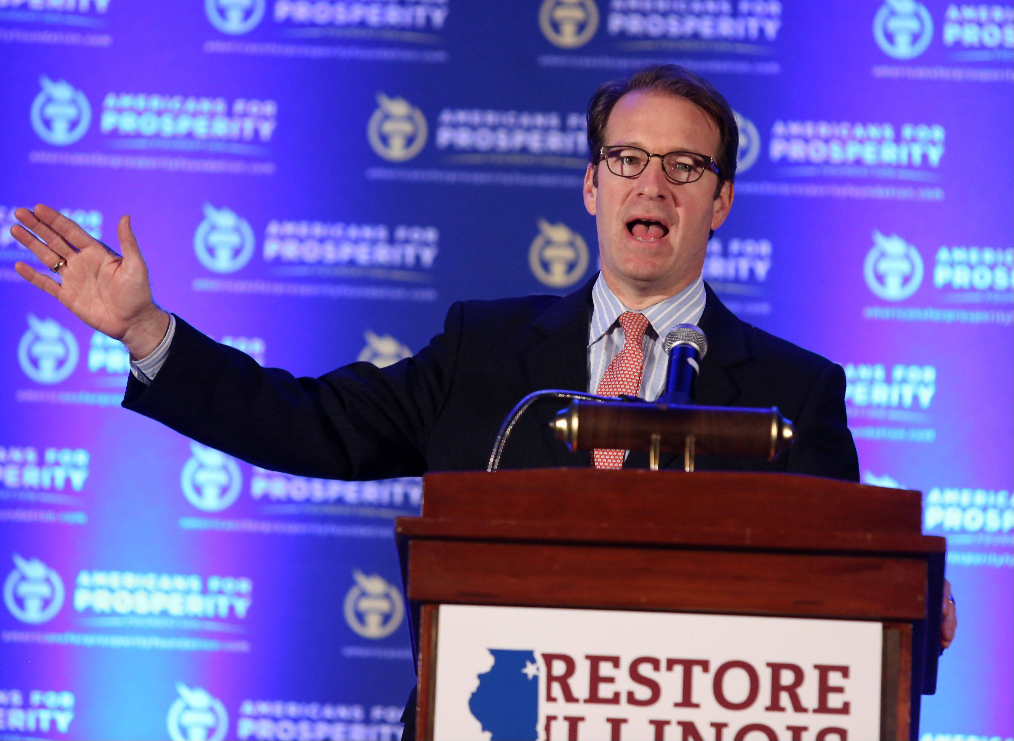 George LeClaire/gleclaire@dailyherald.comU.S. Peter Roskam of Wheaton, the chief deputy whip for Republicans, tries to rally conservatives at The Restore Illinois Summit at the Stephens Convention Center in Rosemont on Saturday.