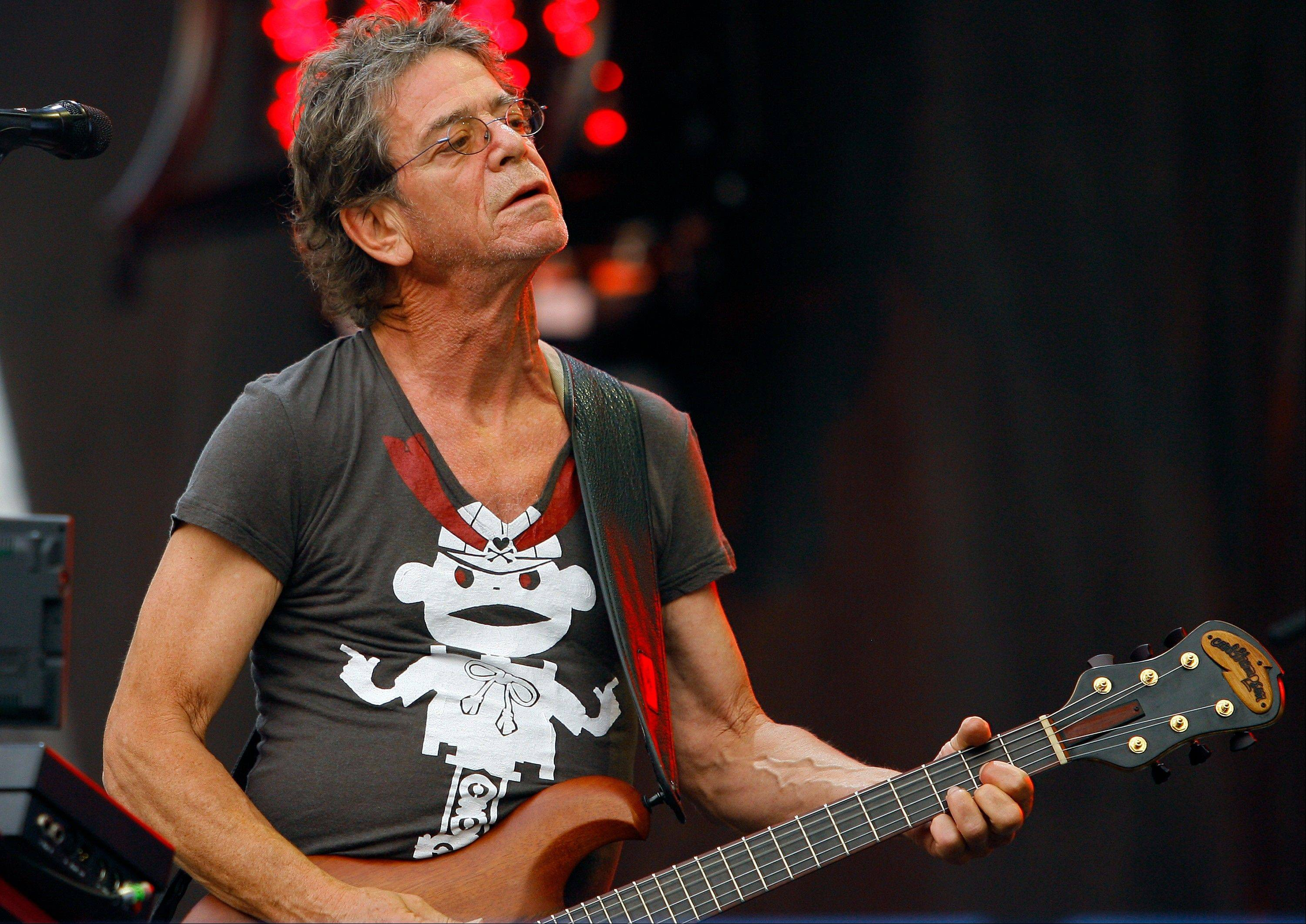 Lou Reed performs at the Lollapalooza music festival, in Chicago.