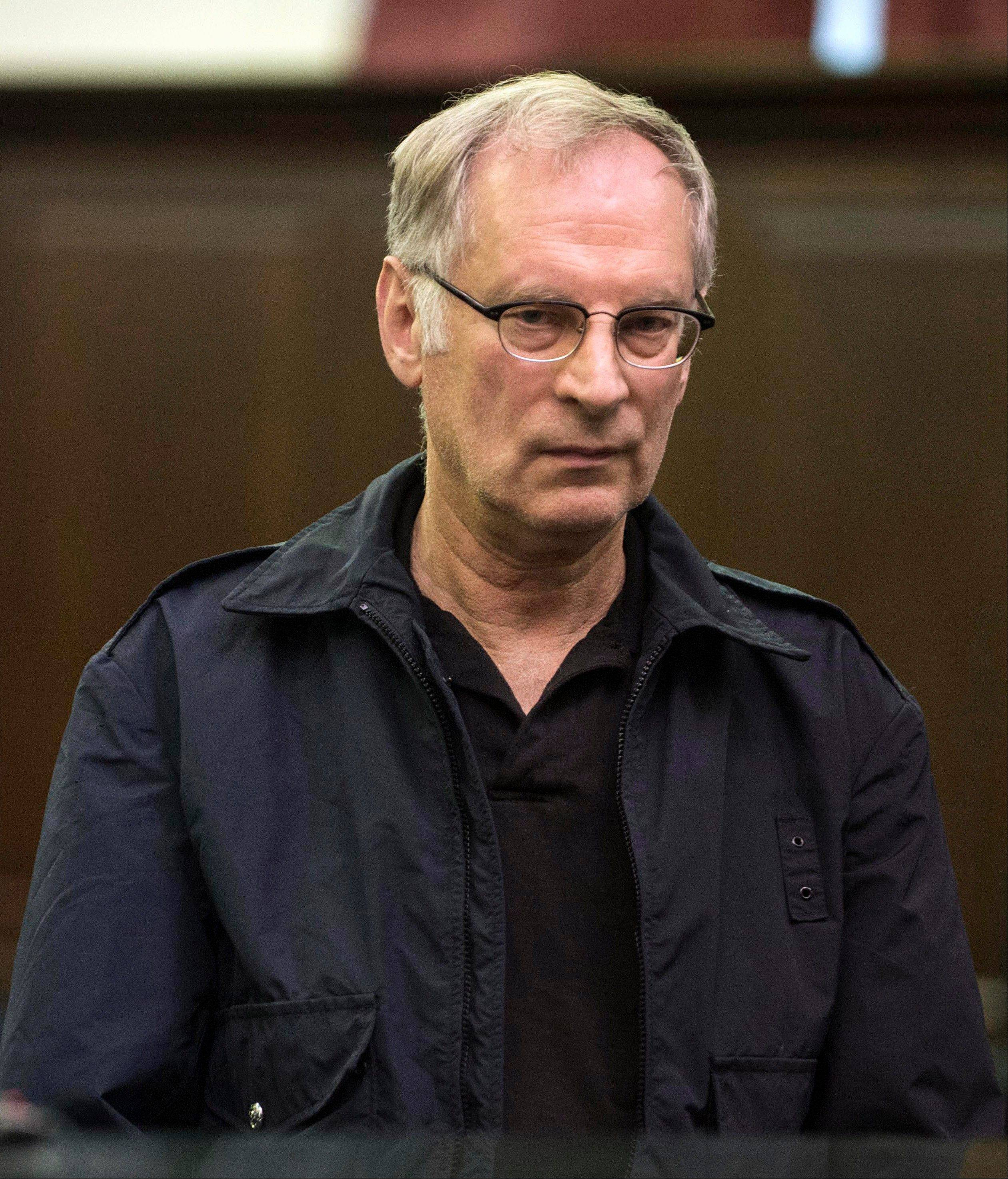 Bernard Goetz is arraigned Saturday in Manhattan criminal court, in New York. Subway vigilante Goetz, who ignited a national furor over racism and gun control after he shot four youths on a train in the 1980s, was arrested on drug charges.