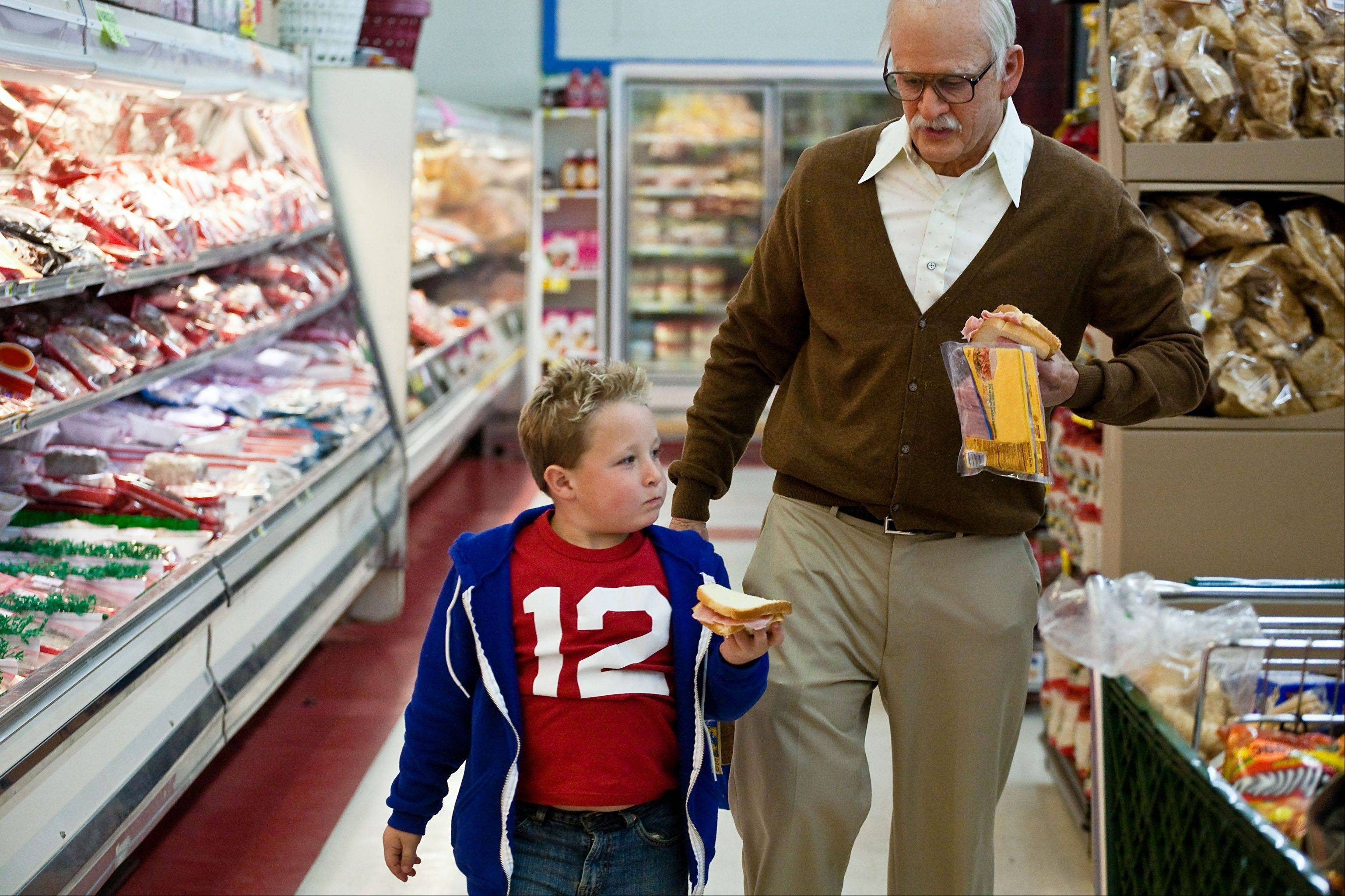 "This photo released by Paramount Pictures shows Jackson Nicoll, left, as Billy and Johnny Knoxville, as Irving Zisman in ""Jackass Presents: Bad Grandpa,"" from Paramount Pictures and MTV Films. The comedy grossed $20.5 million and fell to second place this weekend behind the sci-fi film ""Ender's Game."""