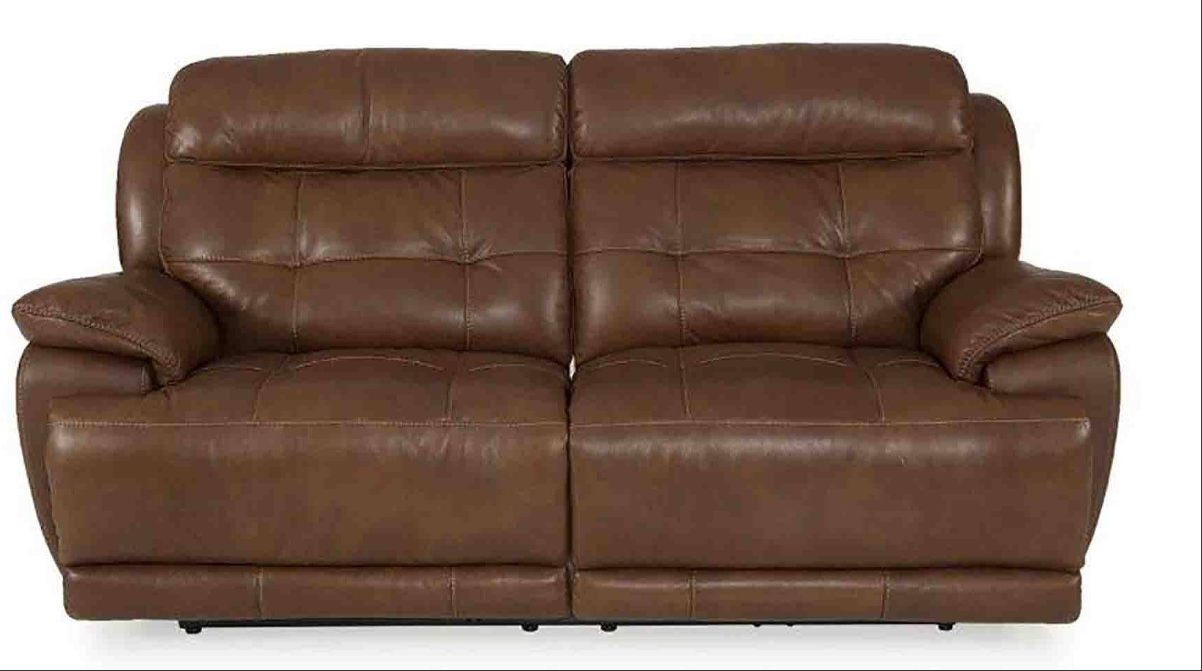 The motion sofa offers several ways to relax -- as a big, comfy sofa, and as a recliner.