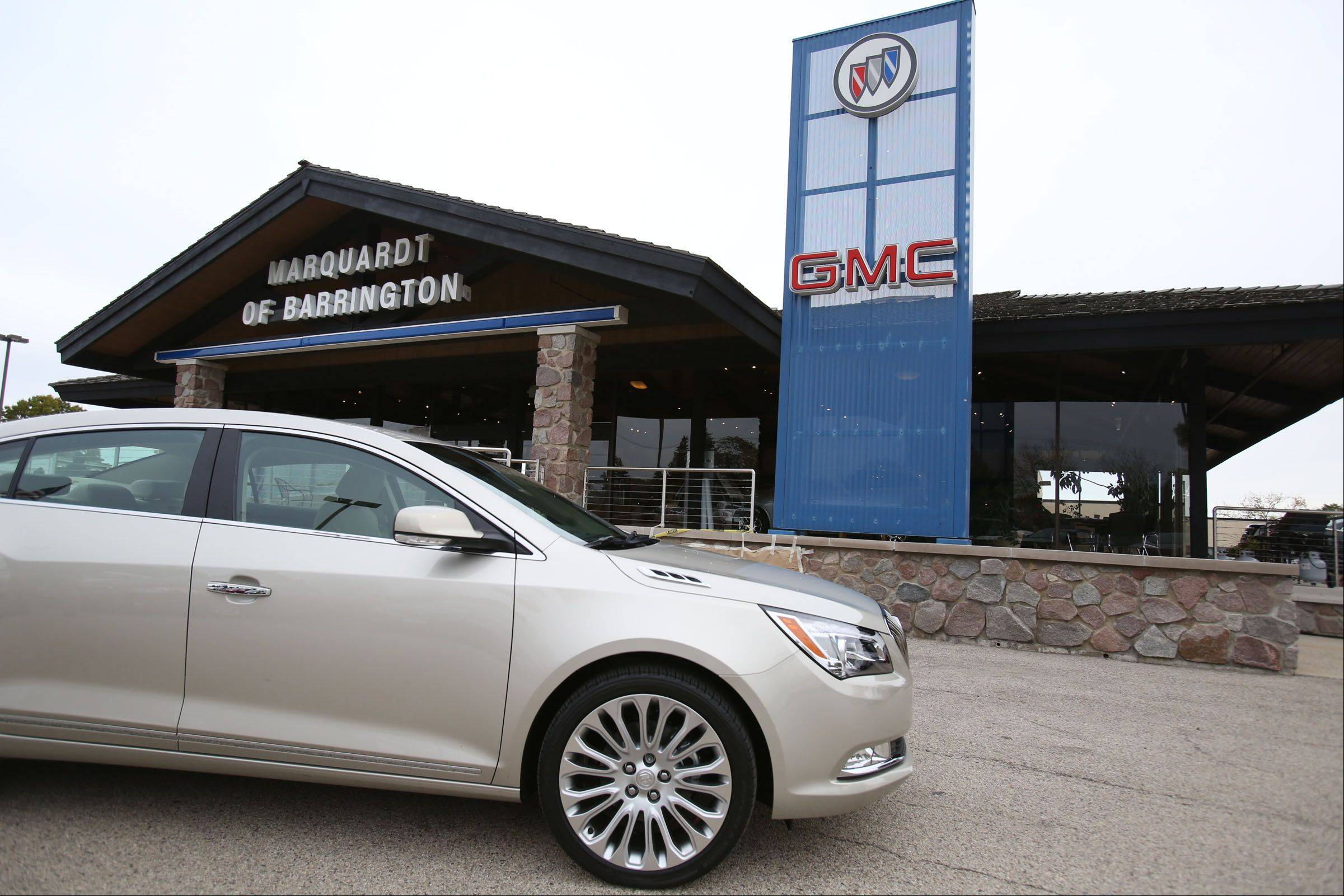 The Buick Lacrosse is one of GMC's redesigned vehicles available at Marquardt of Barrington.