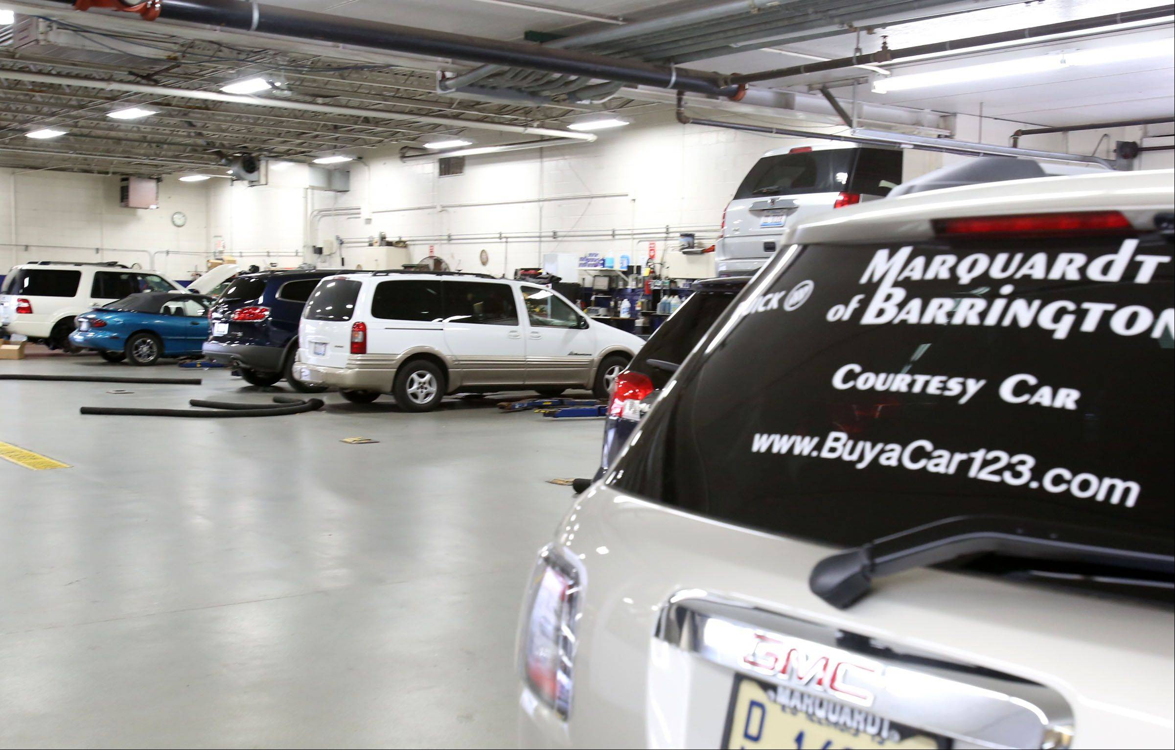 "The service department at Marquardt of Barrington has initiated a ""Door-to-Door"" program in which it will drop off a loaner car as it picks yours up for repairs or maintenance."