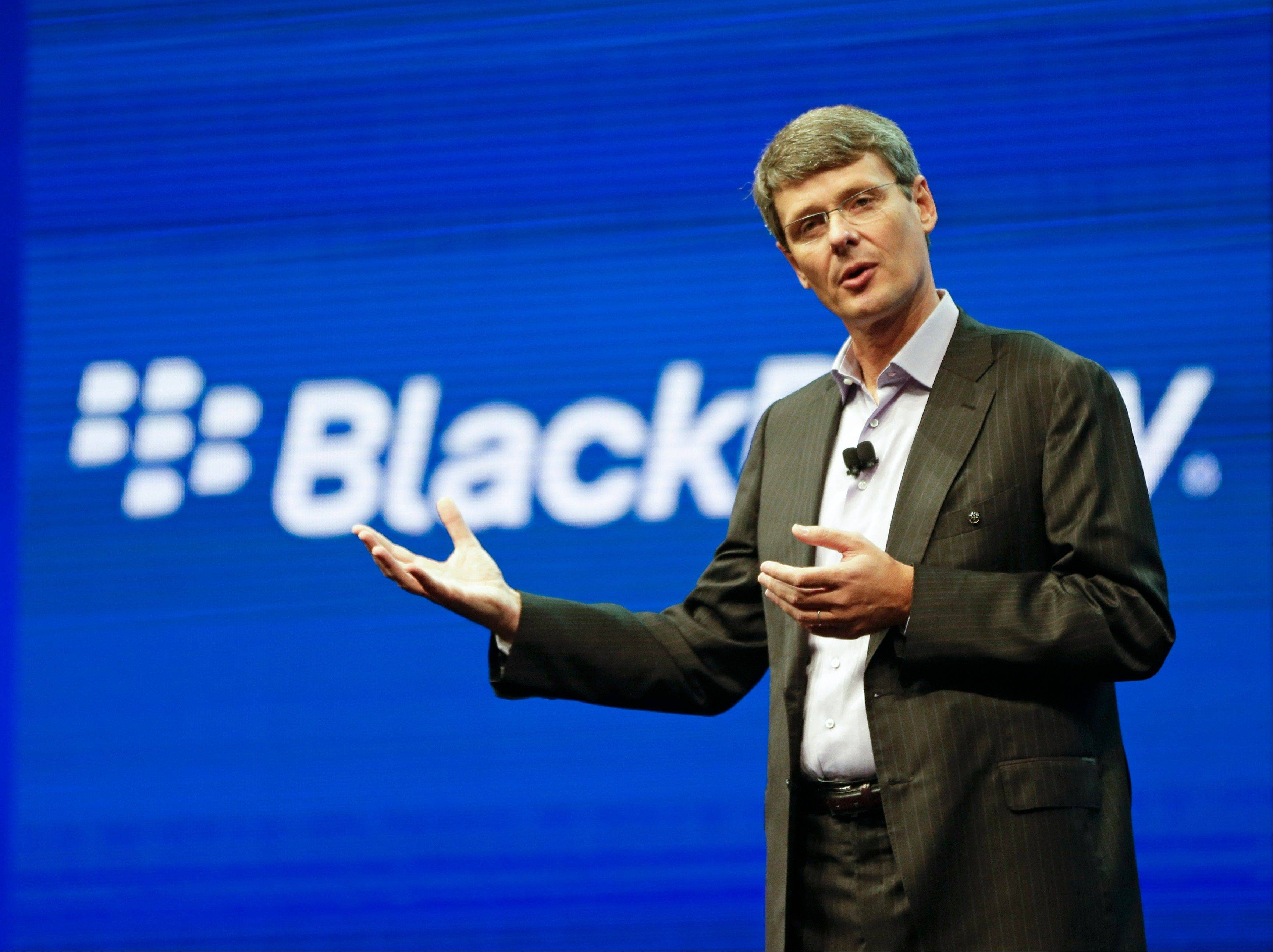 BlackBerry says CEO Thorsten Heins is stepping down. Heins took over in early 2012 after the company lost billions in market value.