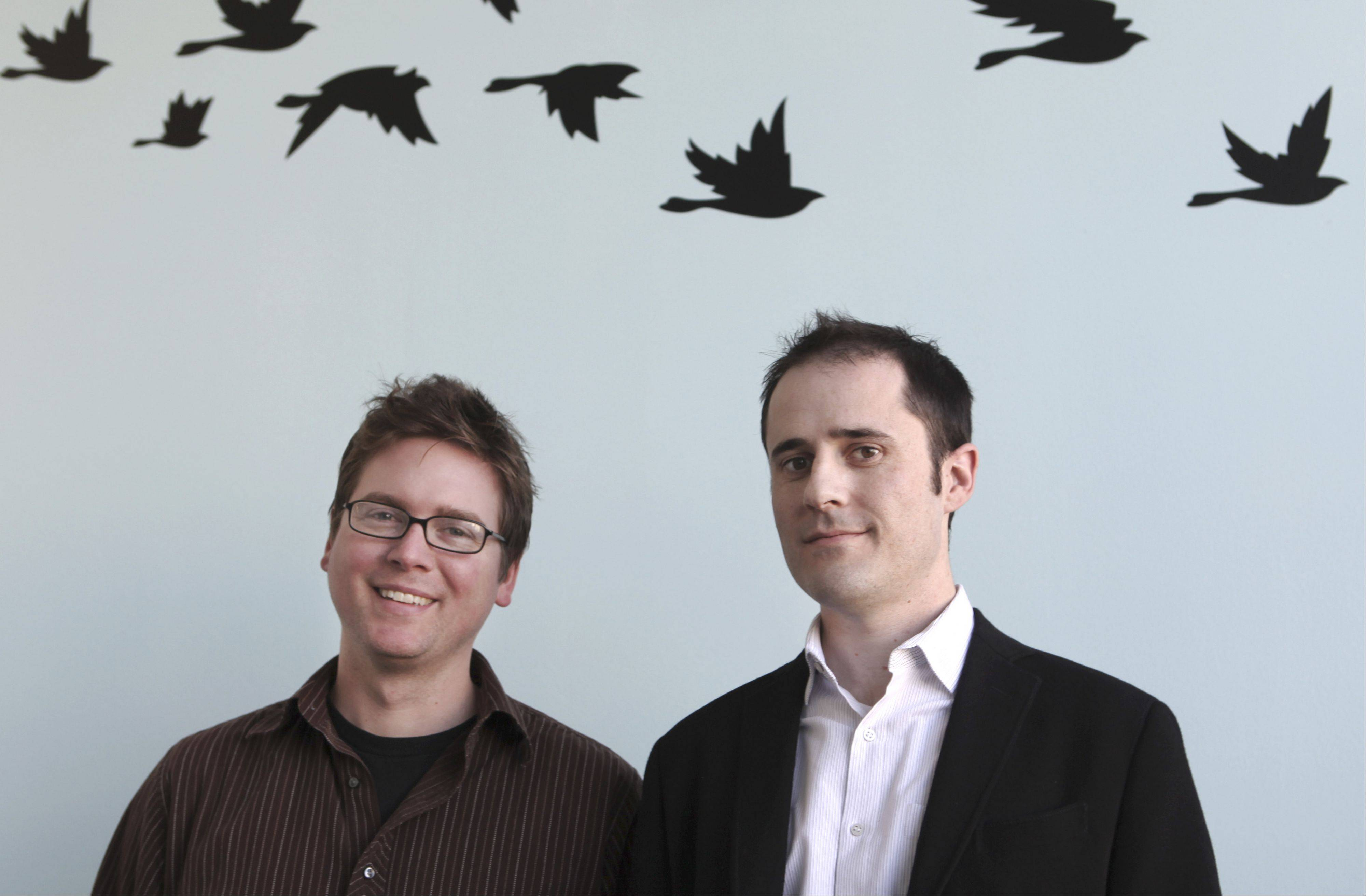 Twitter founders Biz Stone, left, and Evan Williams.Twitter faces skepticism from potential investors and the broader public ahead of its initial public offering, according to an Associated Press-CNBC poll released Monday.