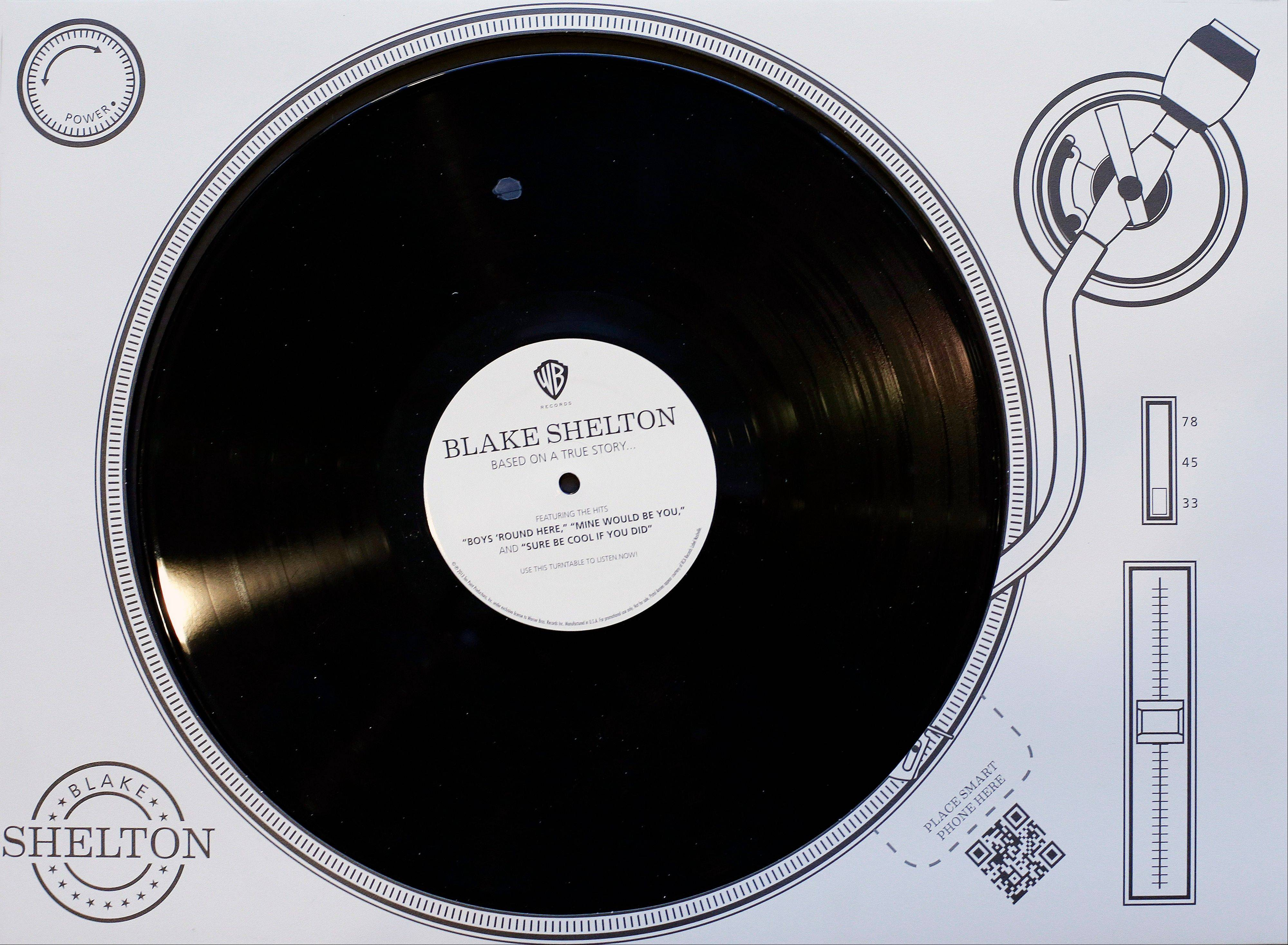 This virtual record player promoting Blake Shelton was produced to influence voters of the CMA Awards, which takes place Wednesday. The CMA encourages artists and their labels to educate voters, allowing three email blasts and one mailed product a year.