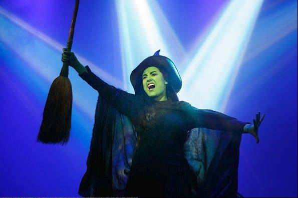 "Alison Luff plays Elphaba, the misunderstood Wicked Witch of the West, in Broadway in Chicago's 10th anniversary tour of ""Wicked."""