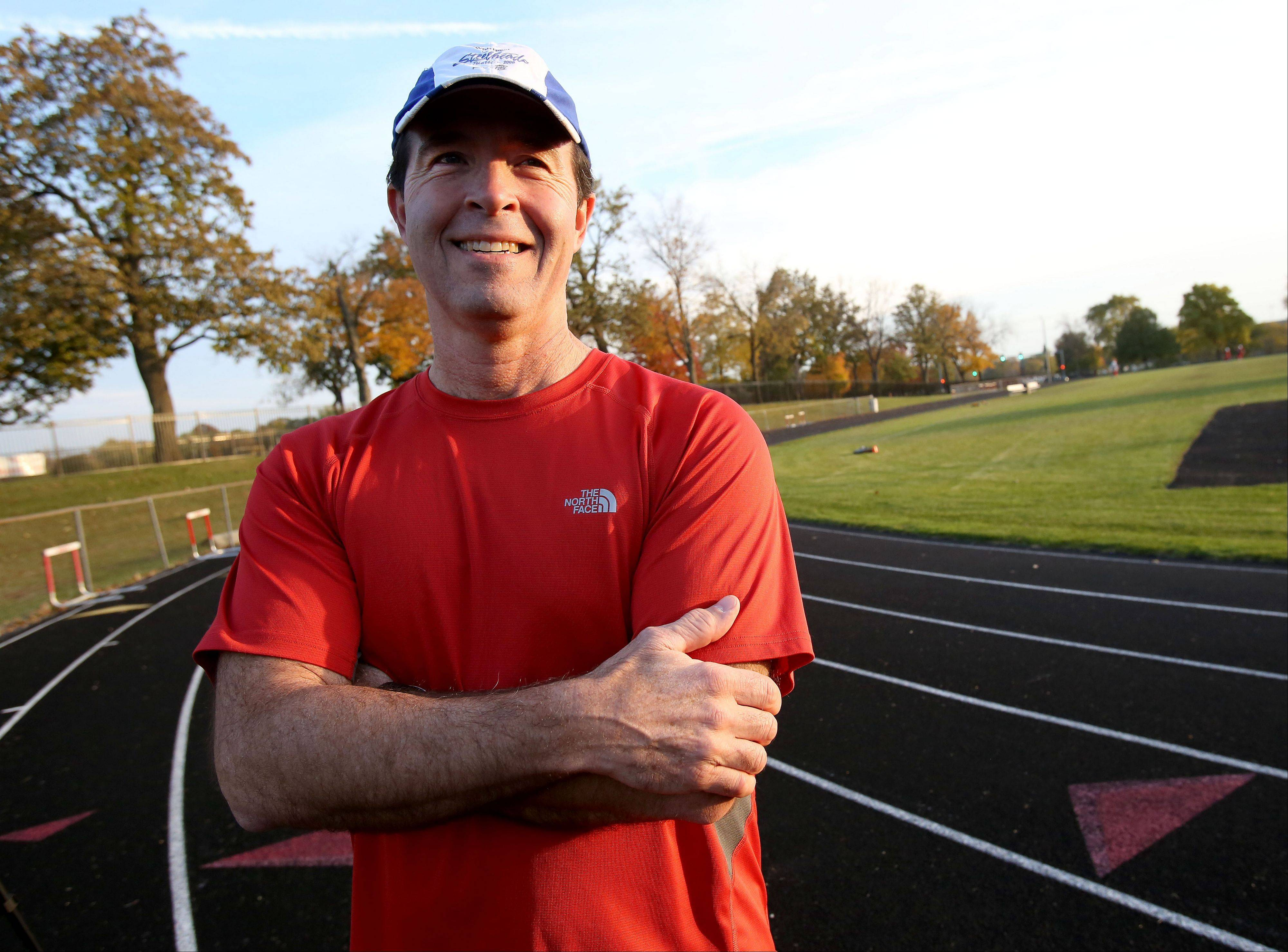 Steve Dobes of Naperville is almost ready to run his first marathon, a racing journey in honor of his brother, Jim, who died in 2009 from ALS. Dobes' first marathon will be the inaugural Edward Hospital Naperville Marathon, which begins at 7 a.m. Sunday.