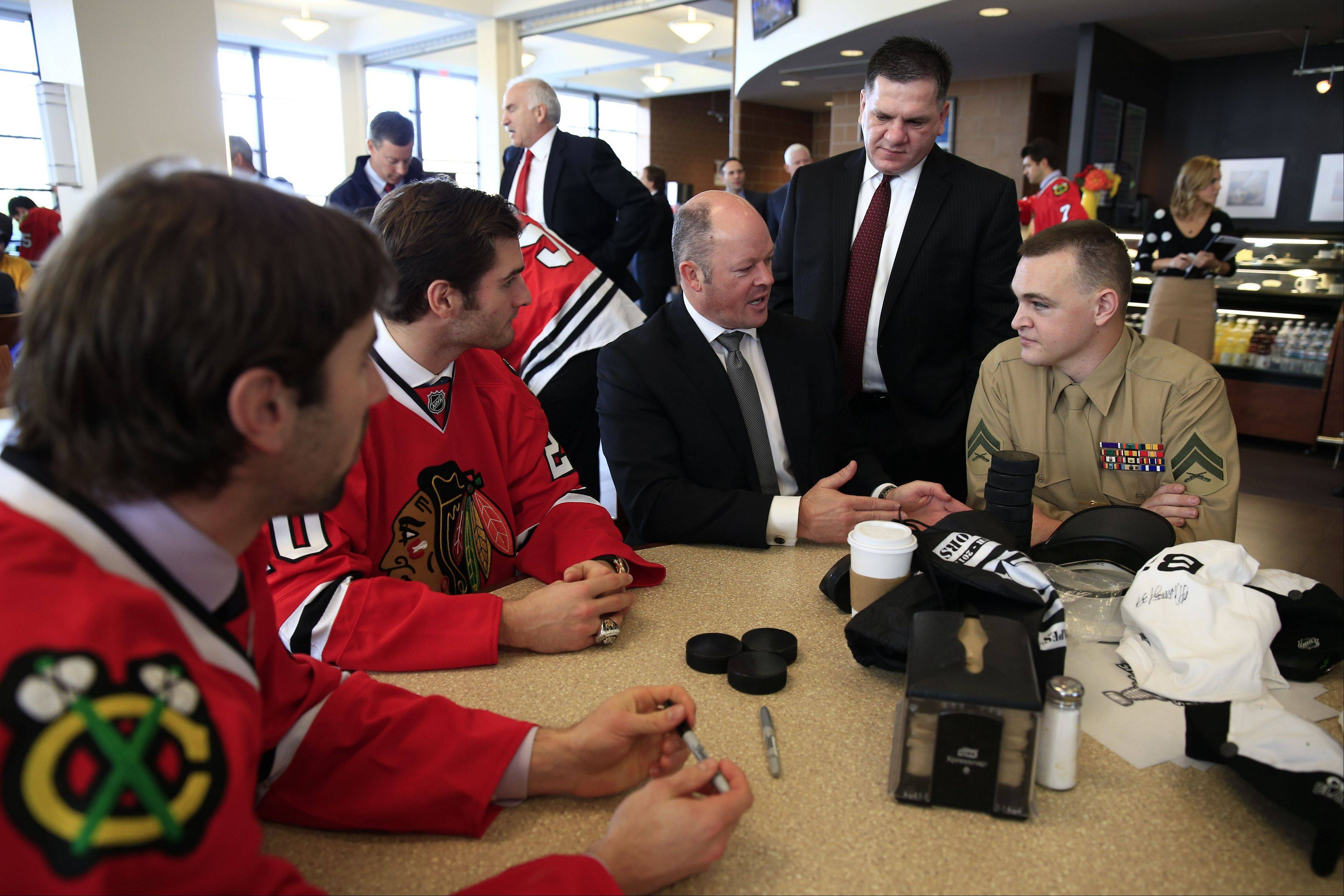 Images from the Blackhawks' visit to Visit Walter Reed National Military Medical Center on Monday