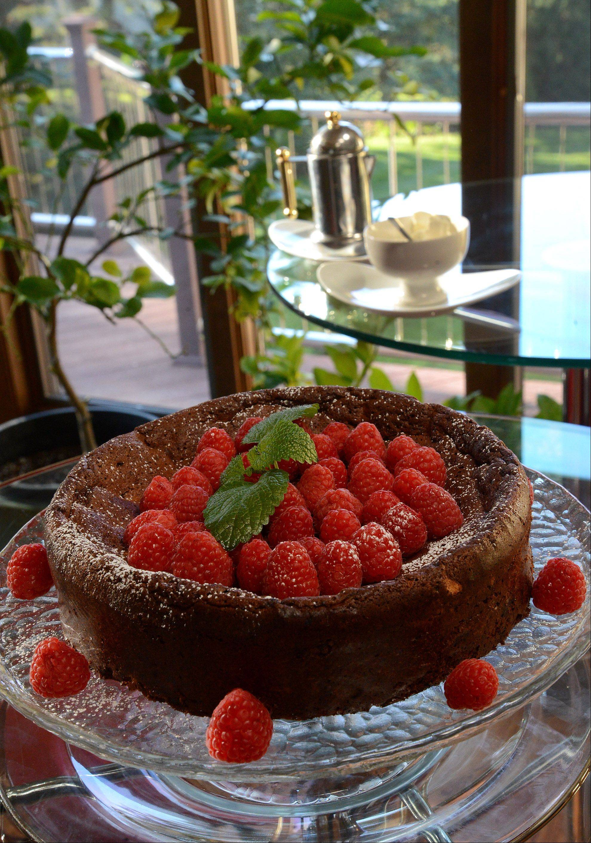 Marquise aux Framboises -- Chocolate Cake with Raspberries