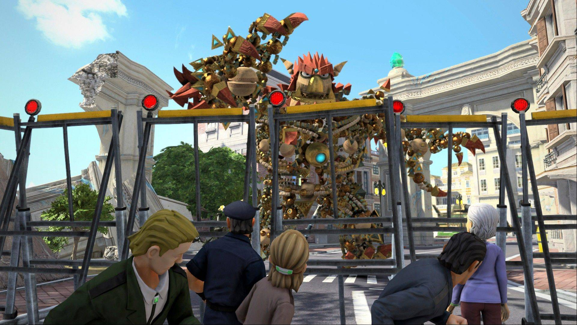 """Knack"" was created to be the perfect beast to show off the spectacularly vamped up visual powers of the PlayStation 4 game console. The hero of the game, also called ""Knack,"" is made up of 5,000 parts that cluster together and hang in the air to shape its ever-metamorphosing form."