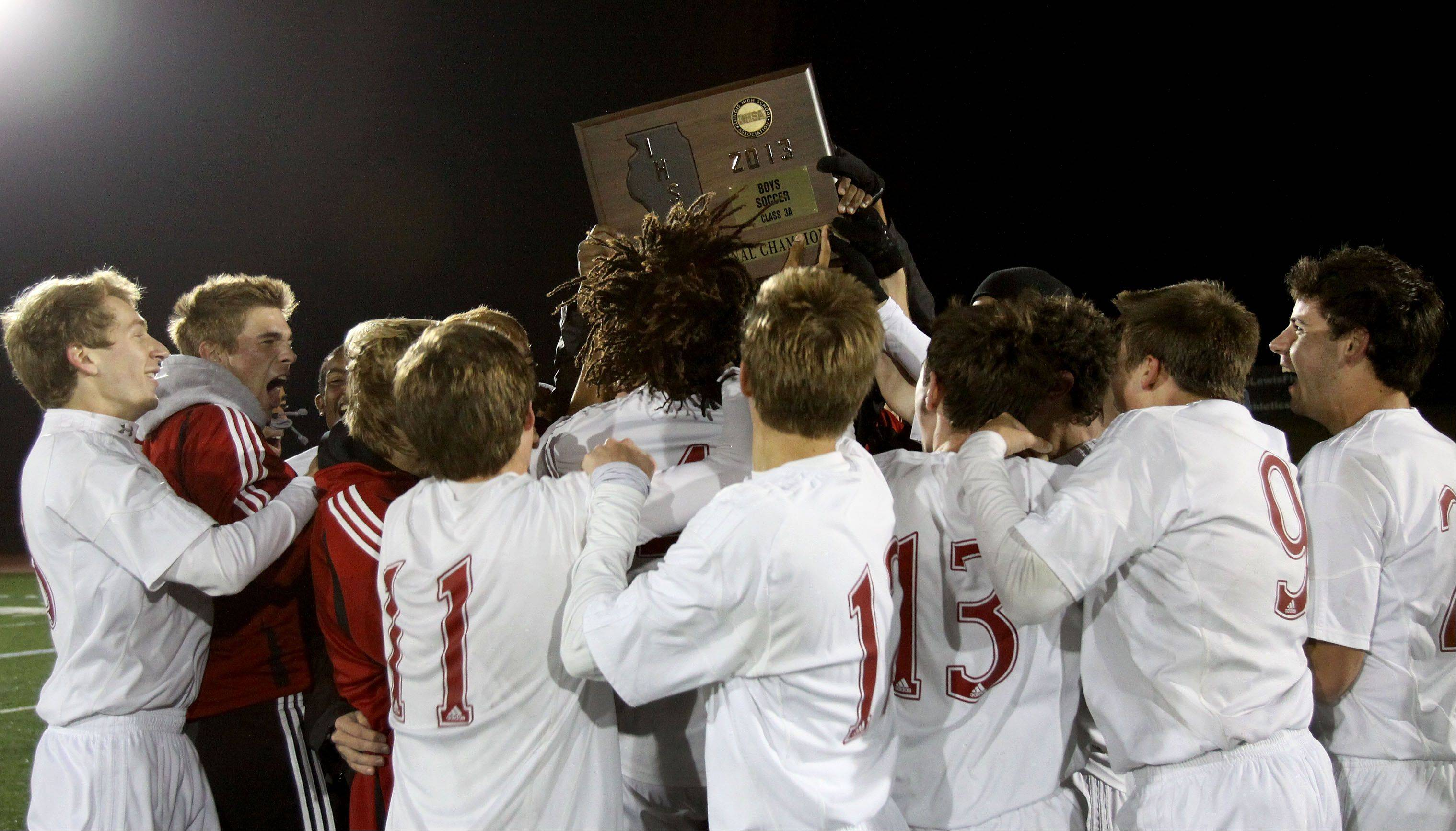 Naperville Central won 2-0 over Morton during Class 3A super-sectional soccer in Romeoville on Tuesday.
