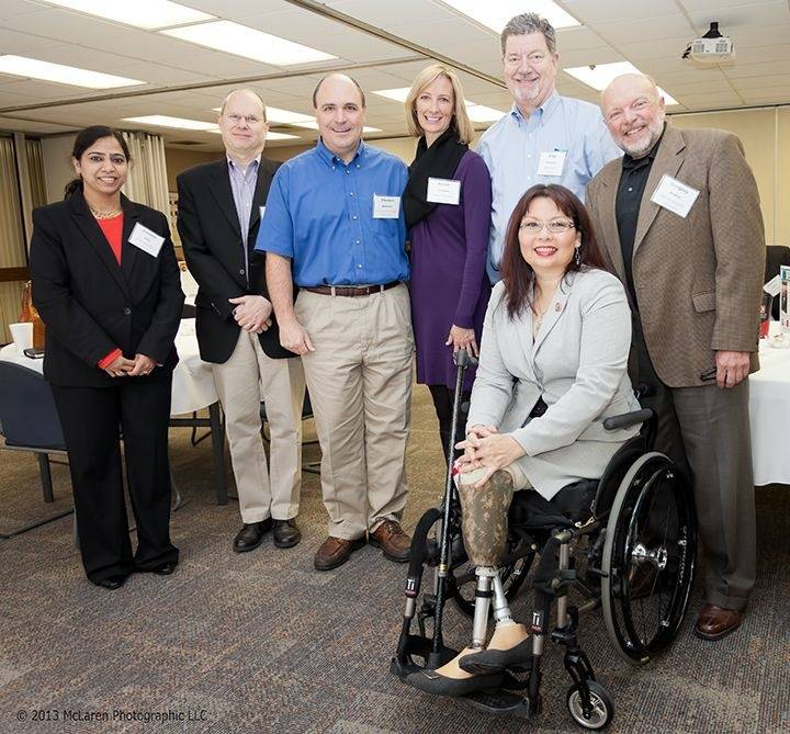 U.S. Rep Tammy Duckworth with TMA members