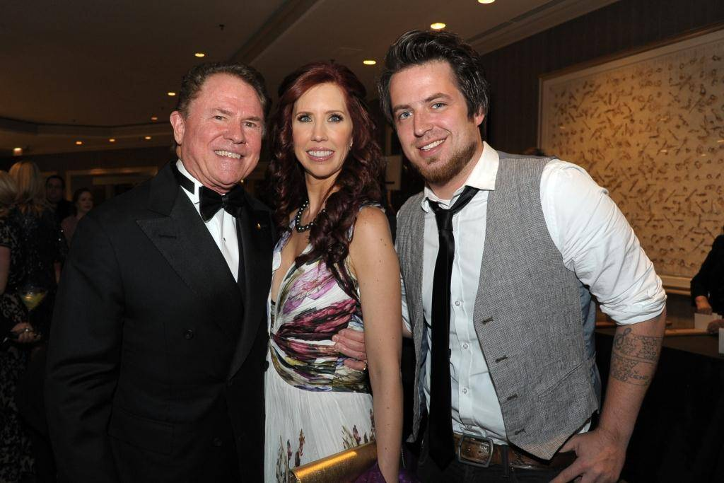 Gateway for Cancer Research Chairman Richard J Stephenson with Dr. Stacie Macari and 2010 American Idol winner Lee DeWyze at the annual Cures Gala to benefit cancer research on Oct. 26 held in Chicago.