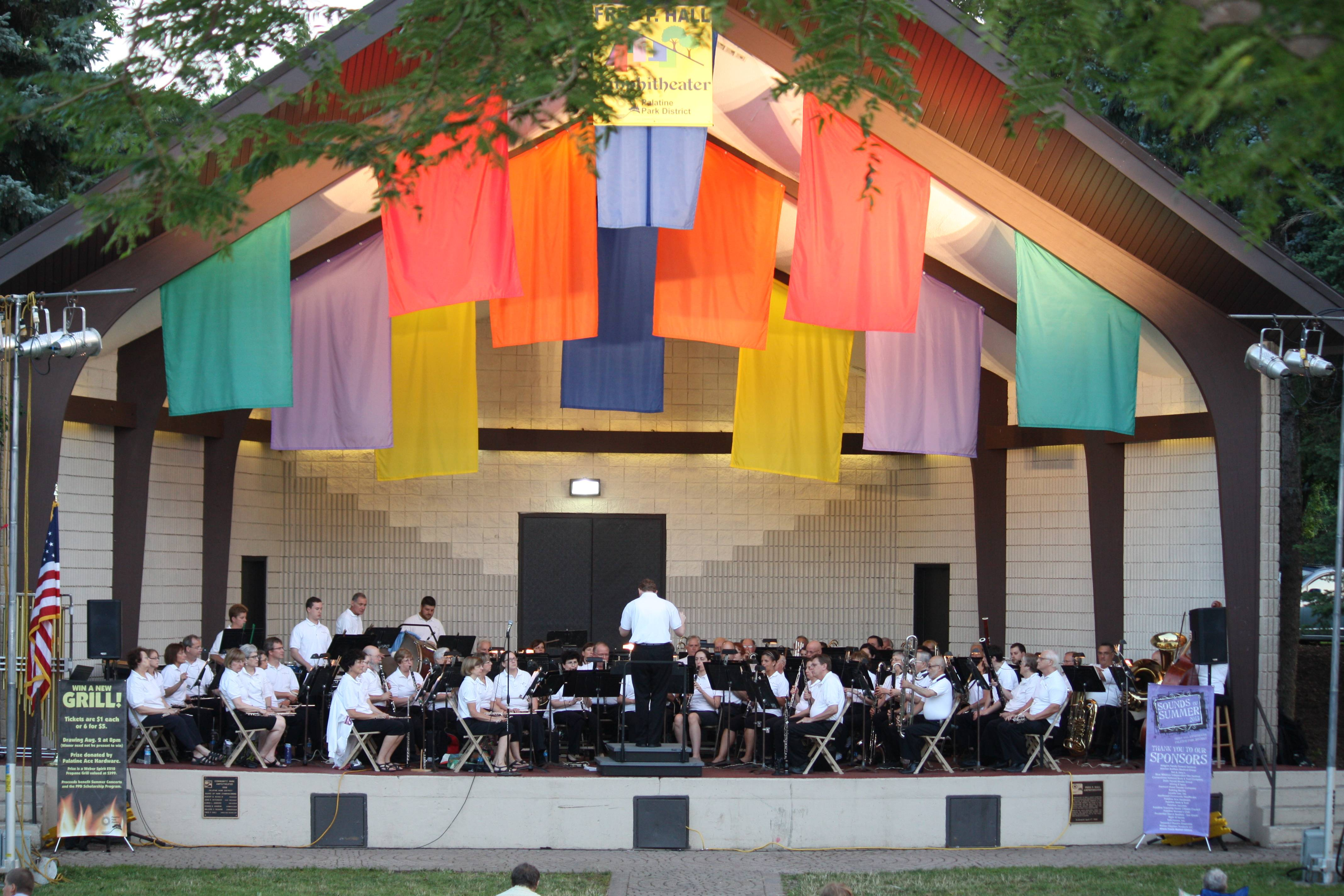 Palatine Concert Band performed as part of the Sounds of Summer Series.