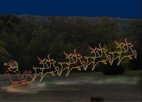 The new Naper Lights in Naperville's Central Park include three, large animated displays, including Santa and his reindeer.