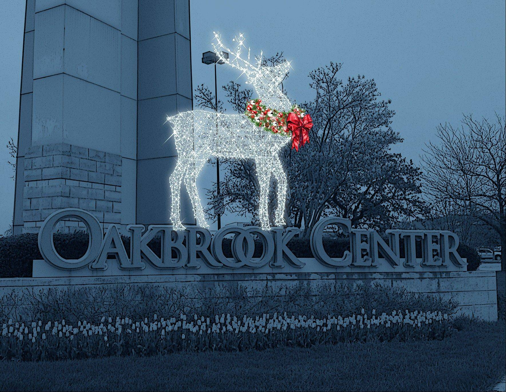 "Oakbrook Center holds a Holiday Spectacular on Nov. 22 to celebrate the completion of a two-year renovation project. The event includes an Illuminated Lantern Night Processional accompanied by jingling ""Bell and Antler"" reindeer characters, and the opportunity to have a photo taken with a live reindeer."