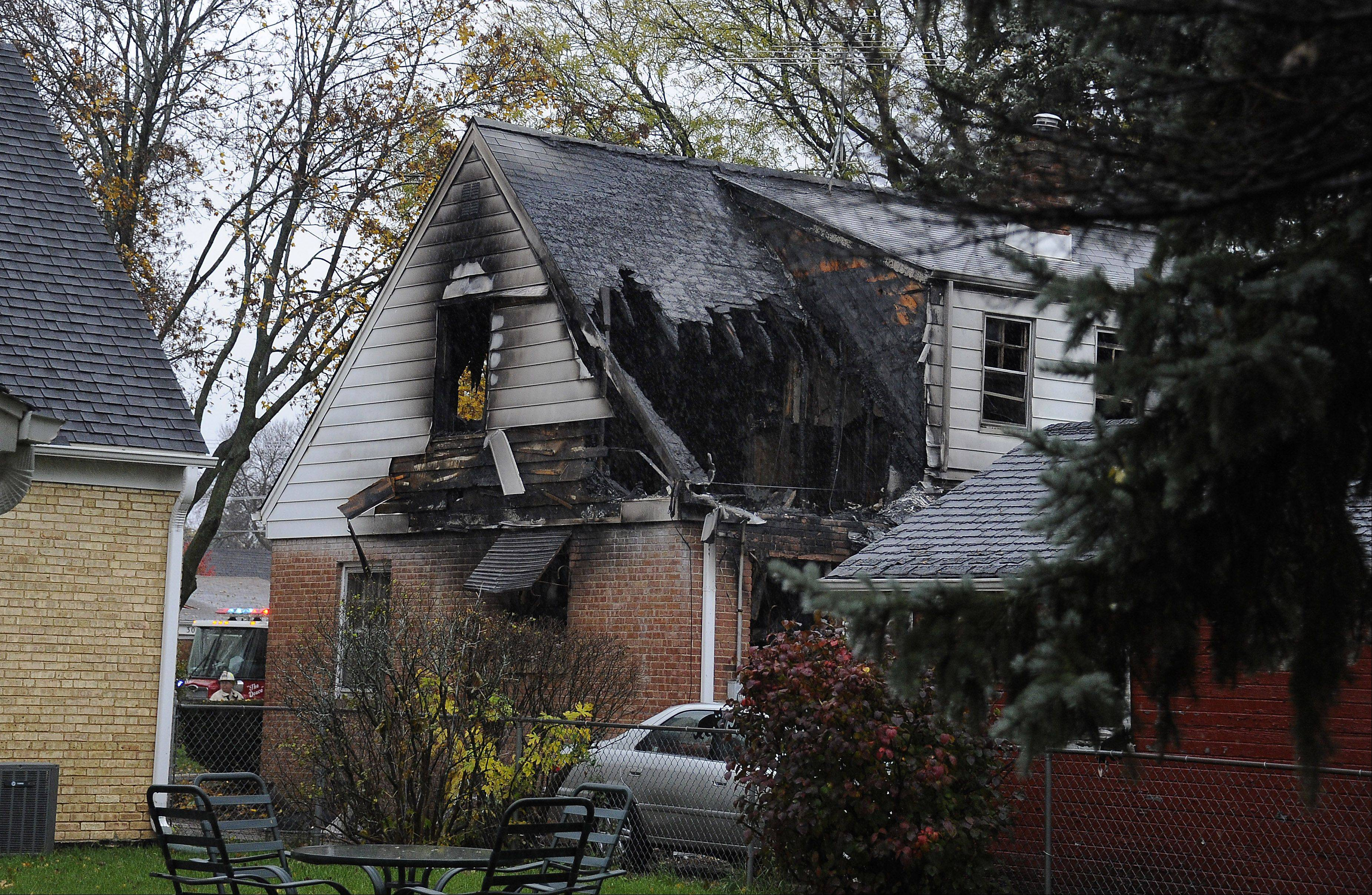 Arlington Heights fire officials think the fire started in a back bedroom area.