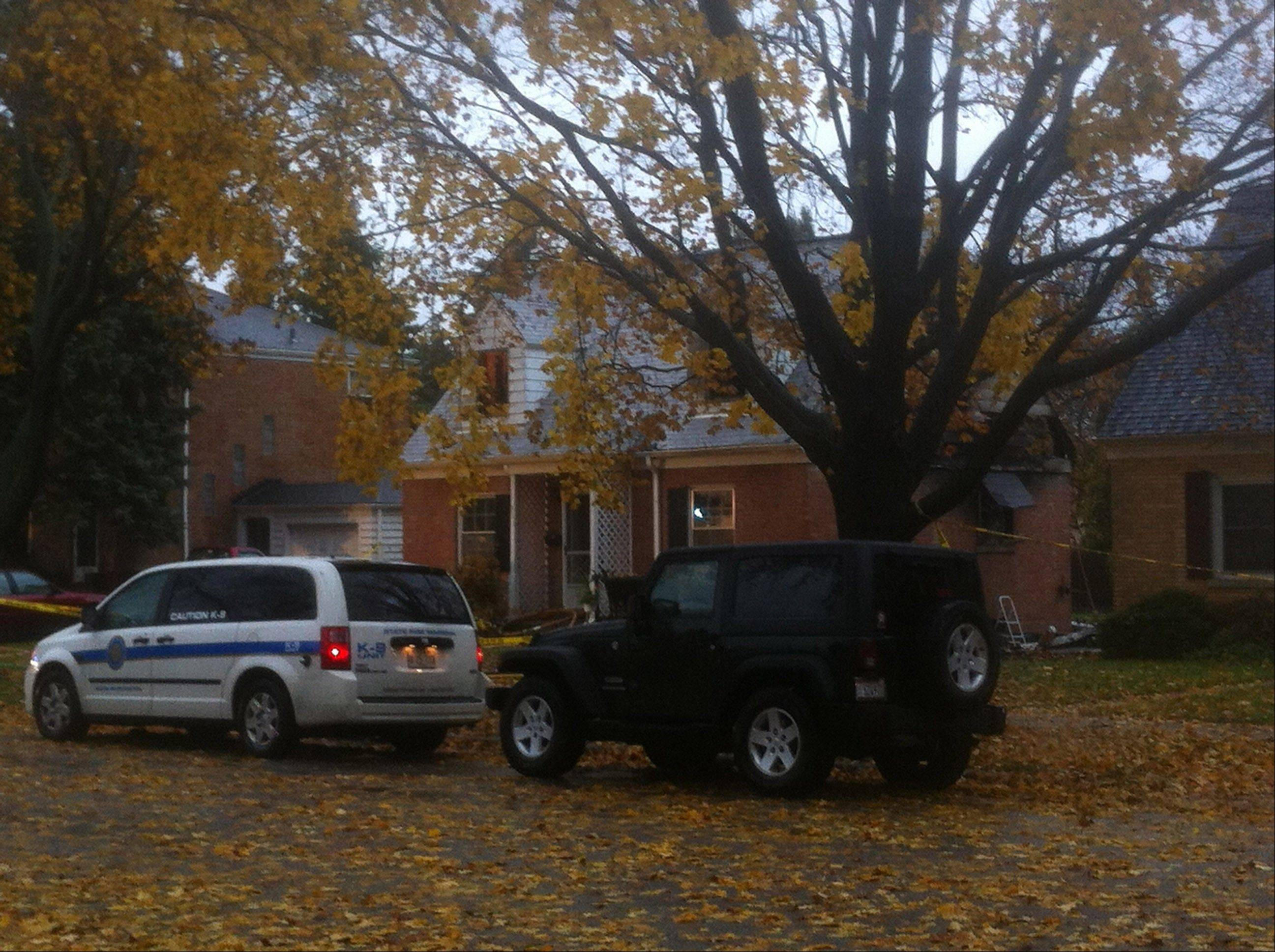 Neighbors had visited the house on the 300 block of South Dunton Avenue in Arlington Heights for Halloween.